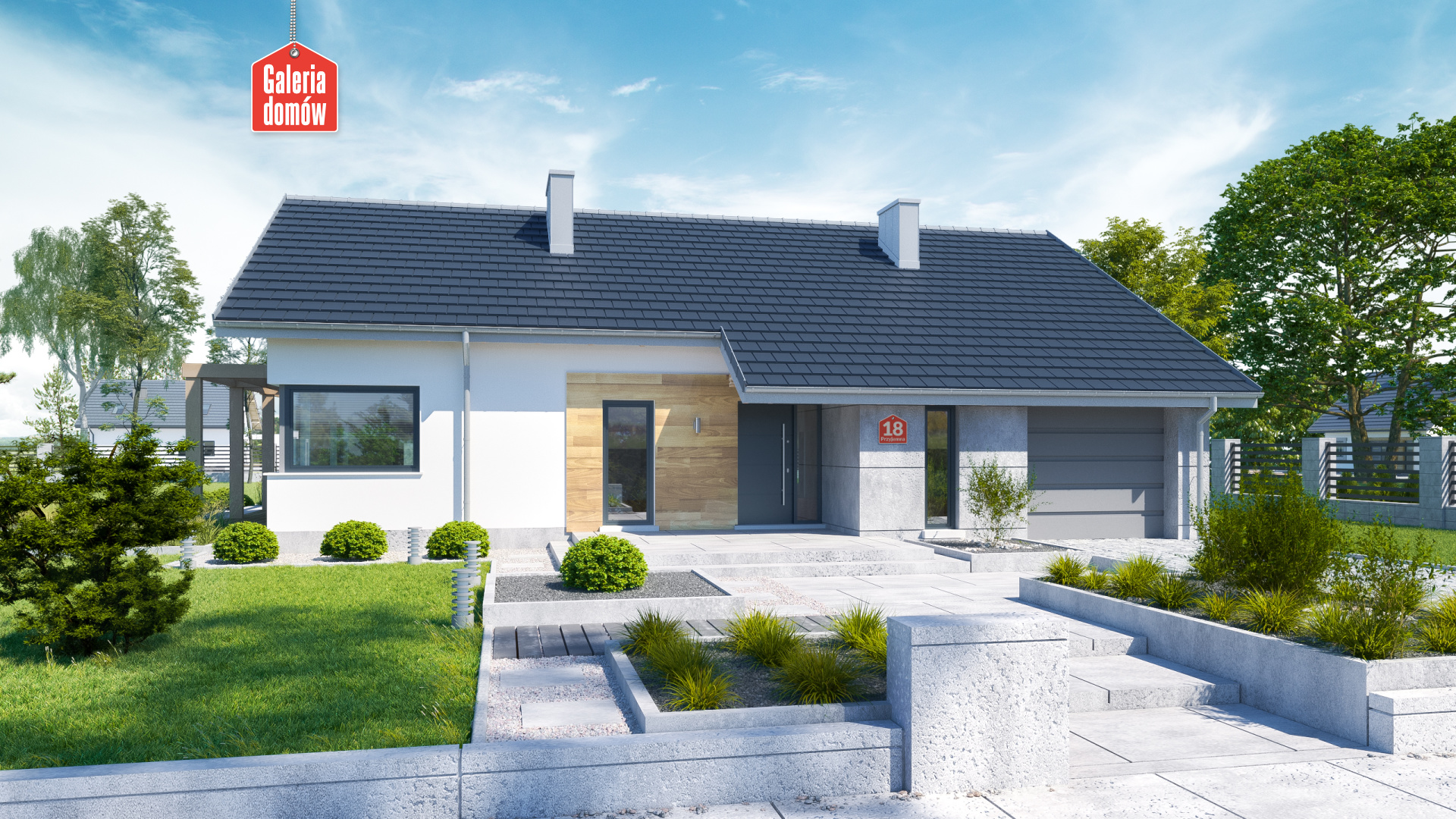 Dom przy Przyjemnej 18 bis - zdjęcie projektu i wizualizacja