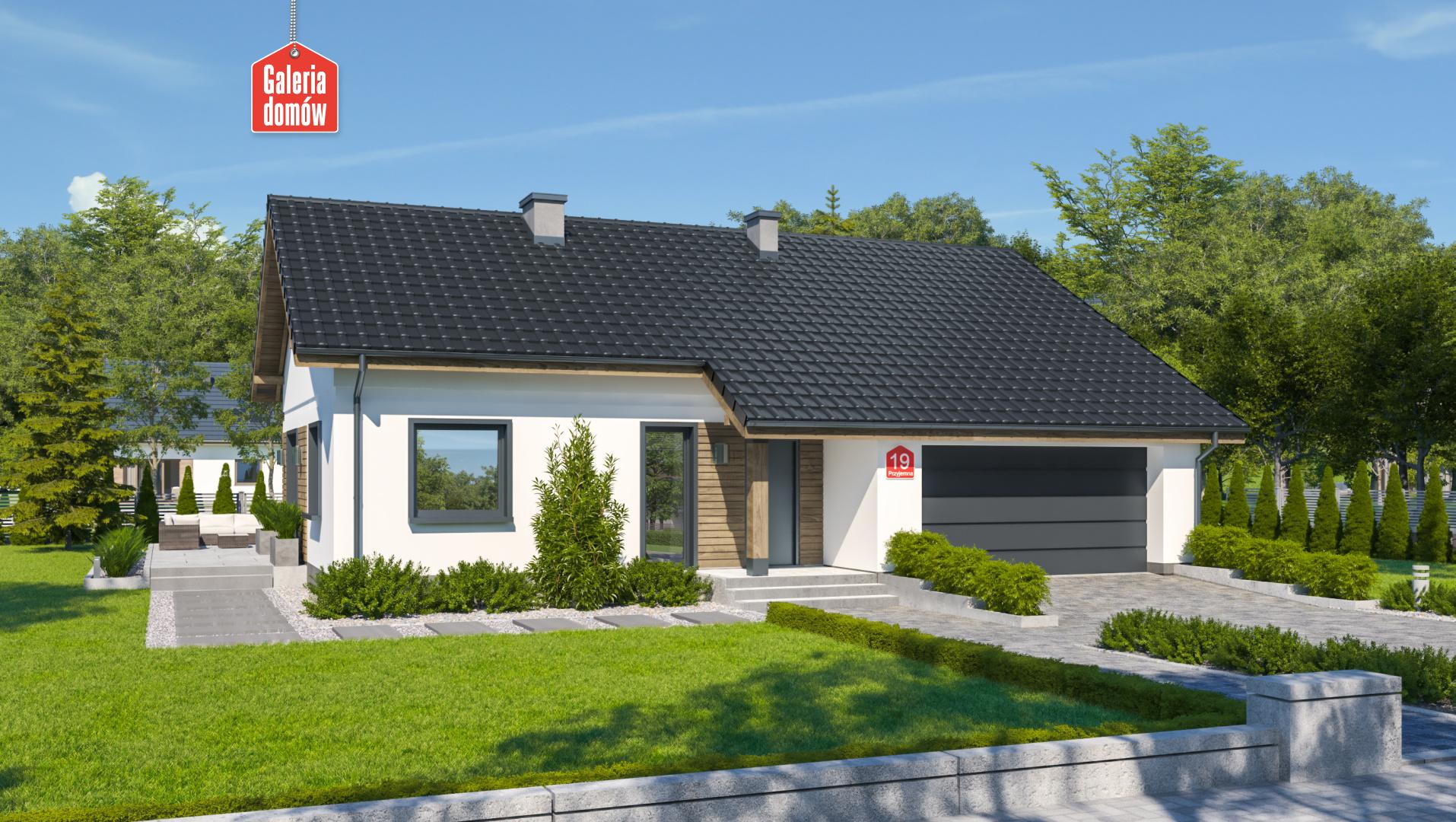 Zdjęcie projektu i wizualizacja: projekt domu Dom przy Przyjemnej 19 bis