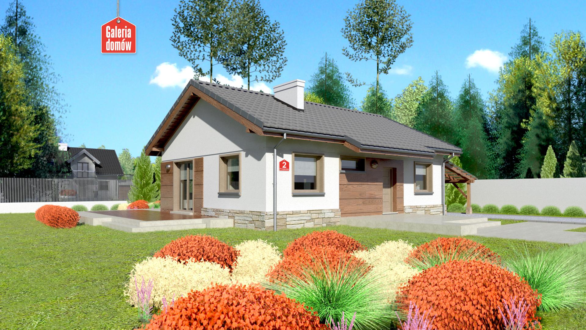 Dom przy Przyjemnej 2 - zdjęcie projektu i wizualizacja