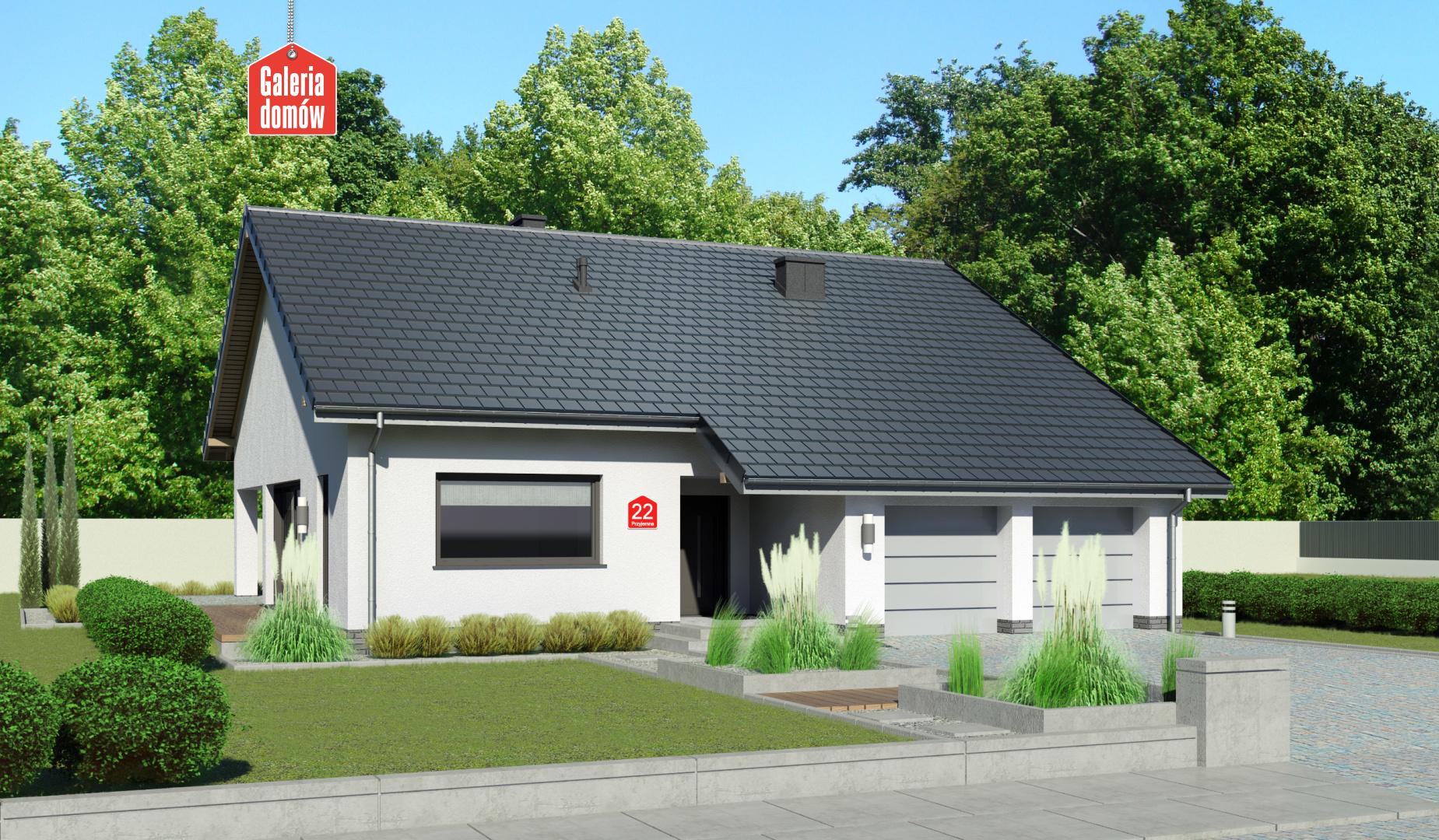 Dom przy Przyjemnej 22 bis - zdjęcie projektu i wizualizacja