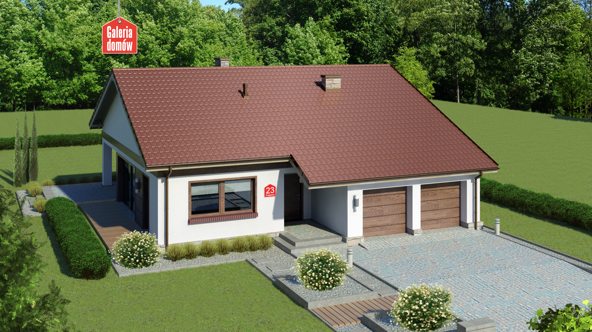 Dom przy Przyjemnej 23 - zdjęcie projektu i wizualizacja