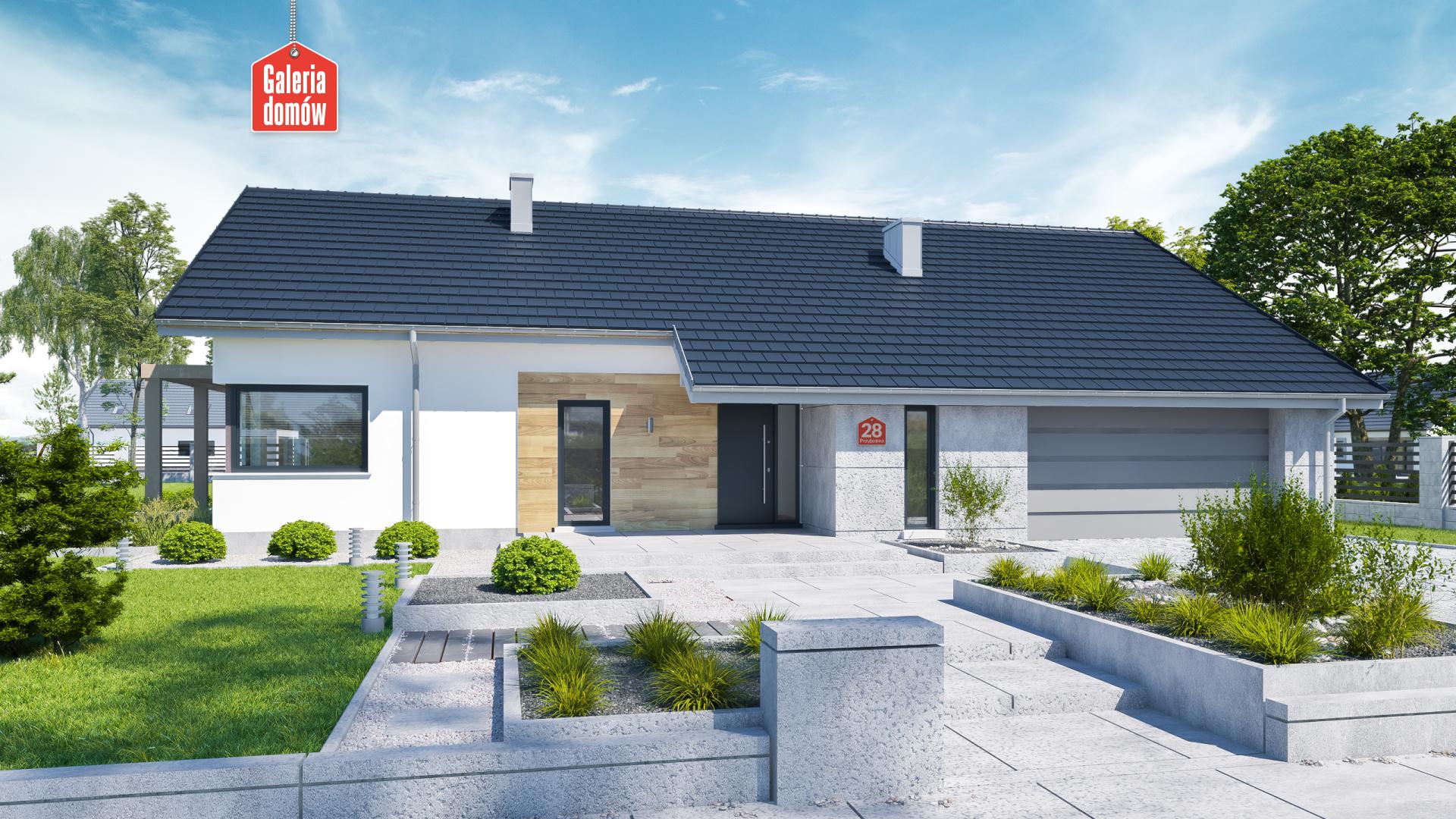 Dom przy Przyjemnej 28 bis - zdjęcie projektu i wizualizacja