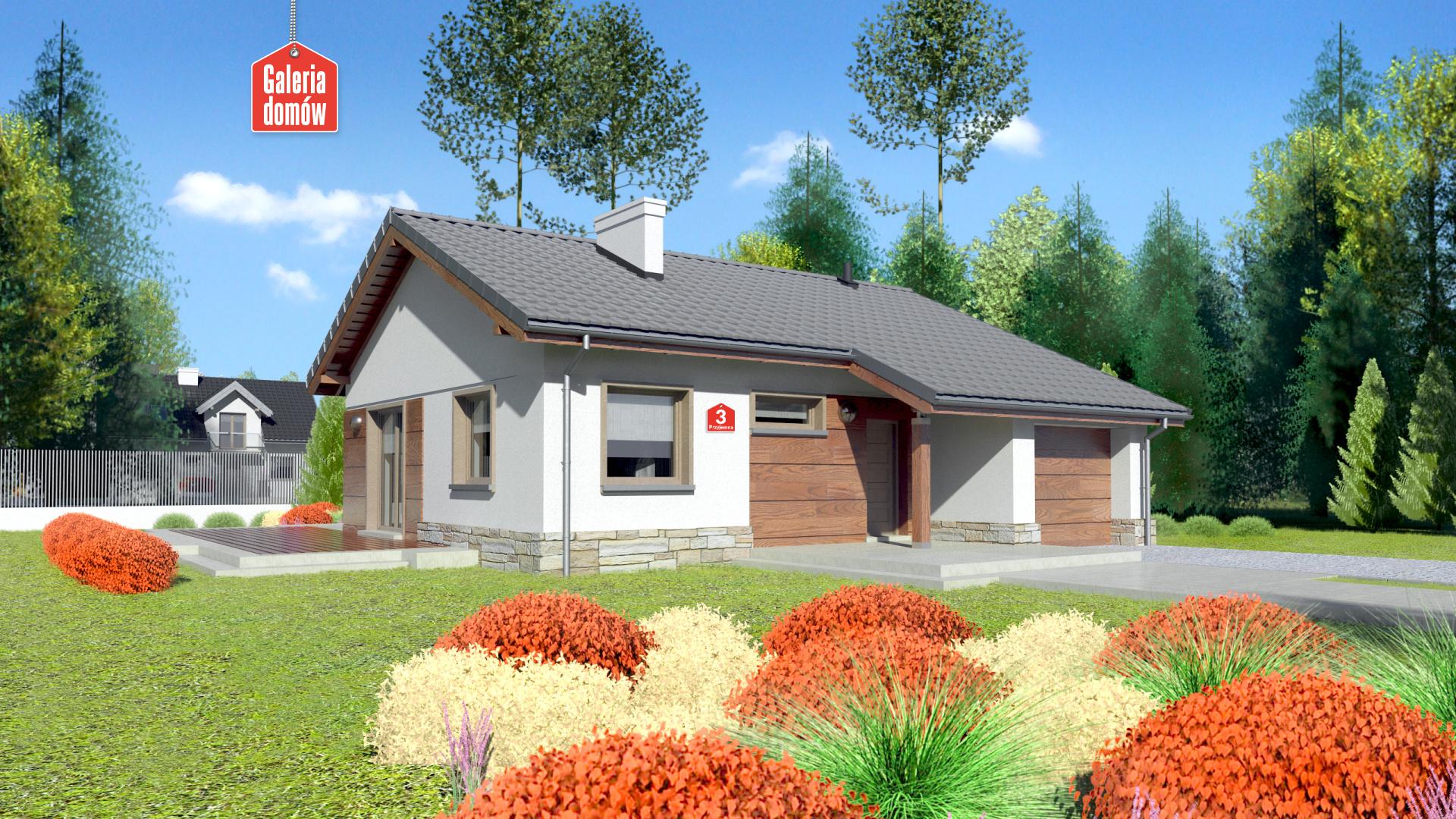 Zdjęcie projektu i wizualizacja: projekt domu Dom przy Przyjemnej 3