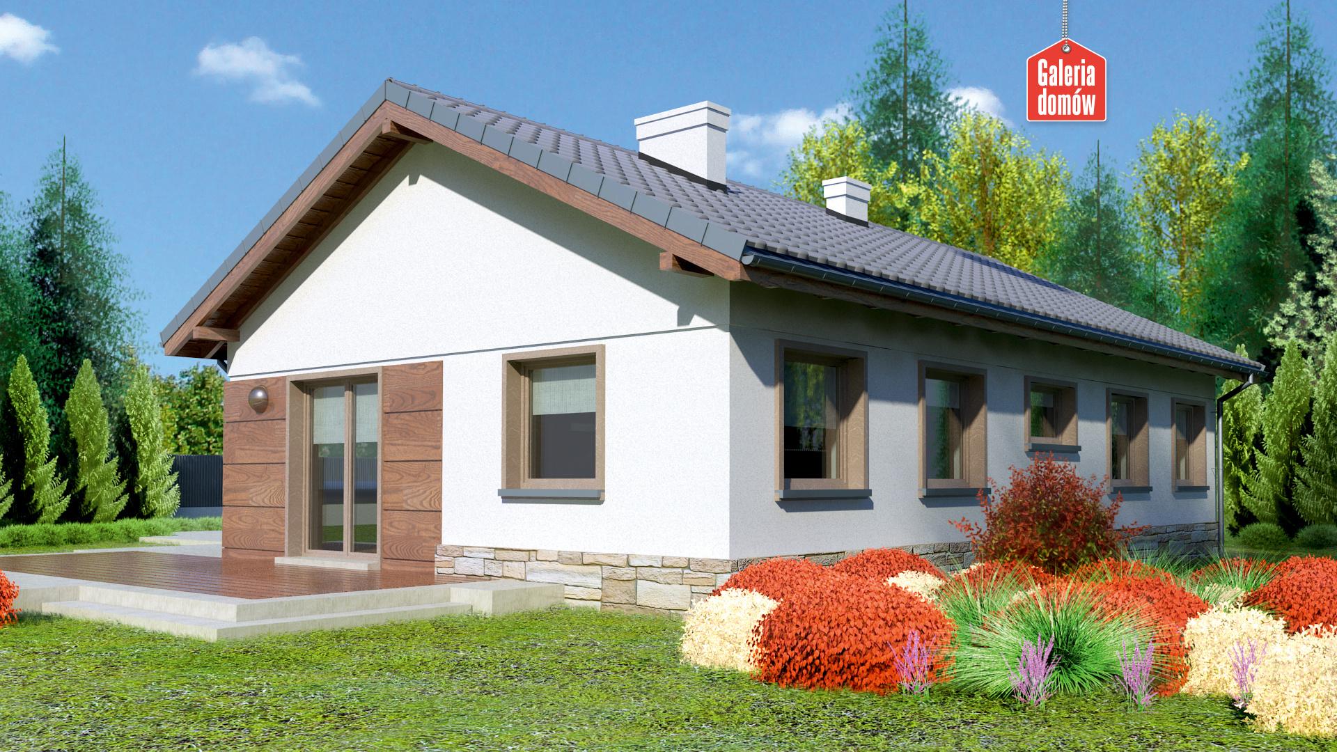 Dom przy Przyjemnej 6 bis - widok od ogrodu