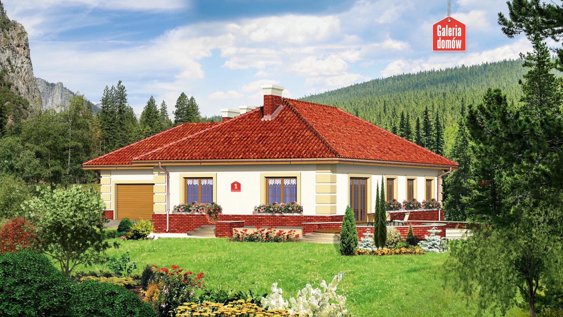 Dom przy Romantycznej - widok od ogrodu