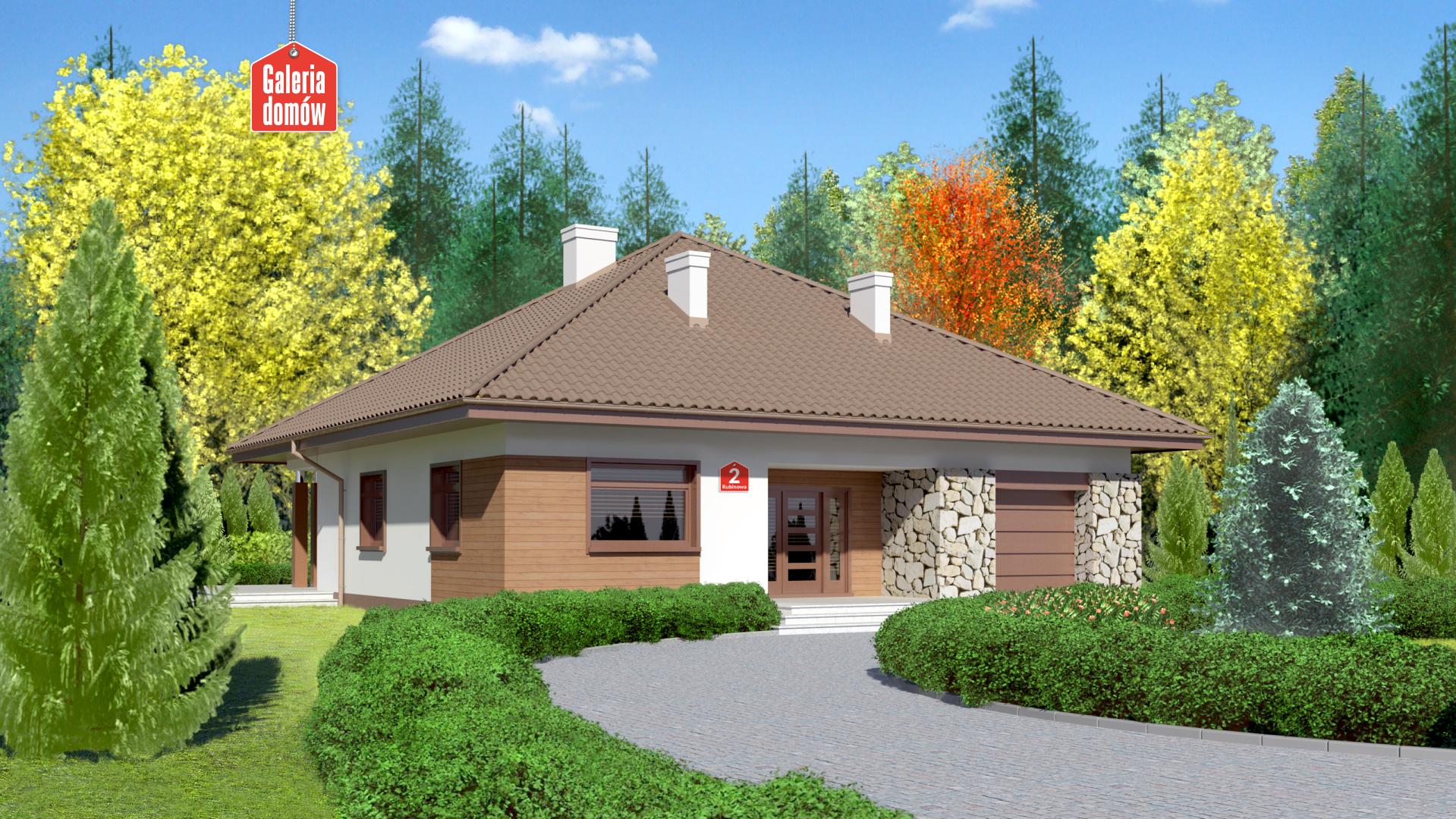 Zdjęcie projektu i wizualizacja: projekt domu Dom przy Rubinowej 2