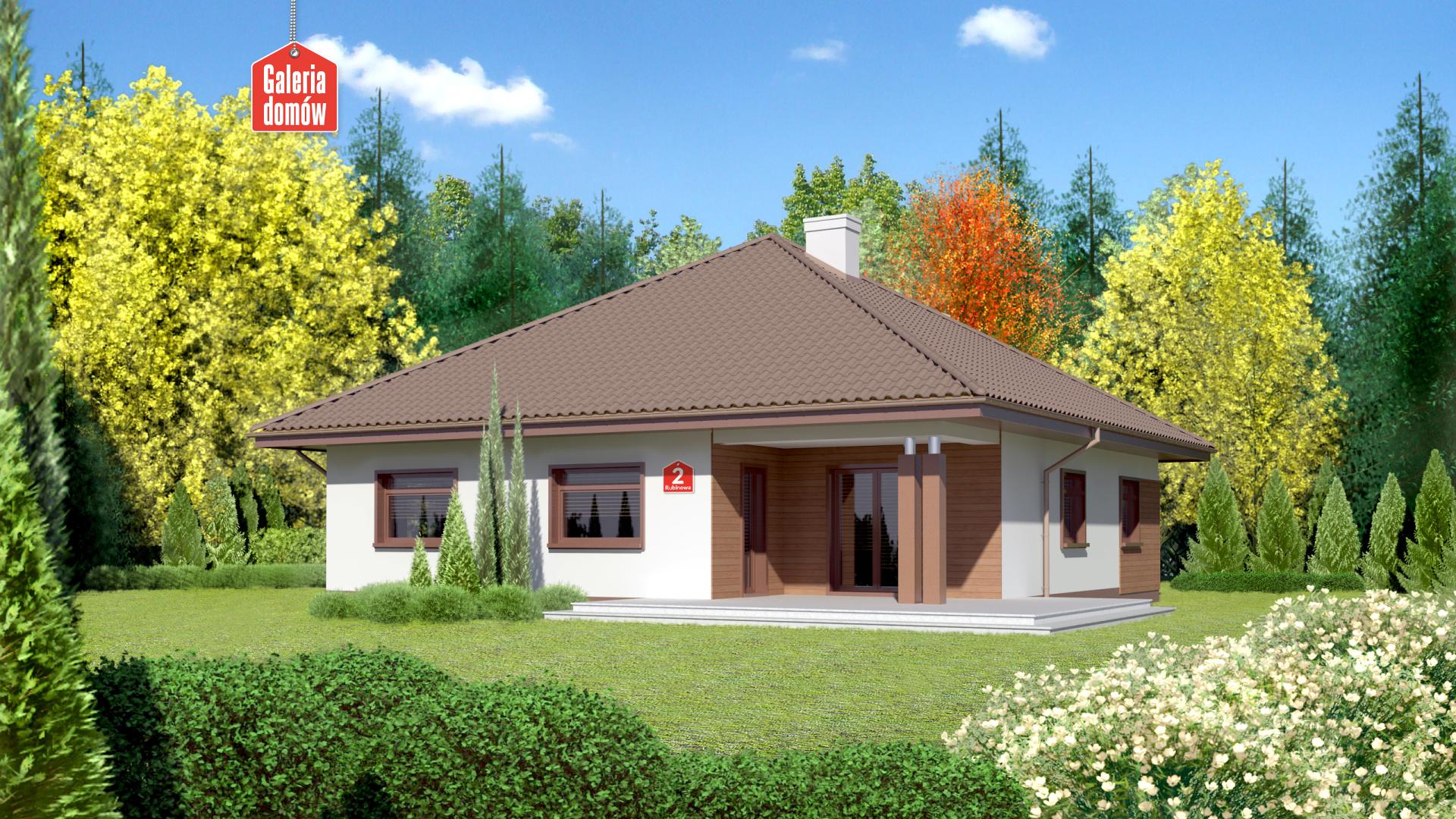Dom przy Rubinowej 2 - widok od ogrodu