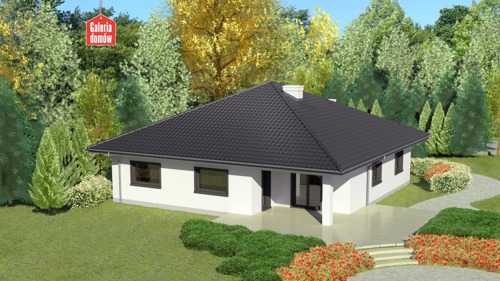 Dom przy Rubinowej 3 bis - widok od ogrodu