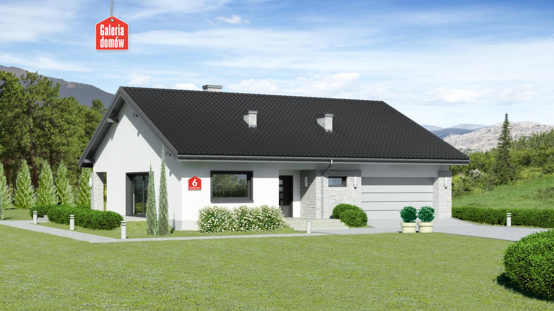 Dom przy Rubinowej 6 - zdjęcie projektu i wizualizacja