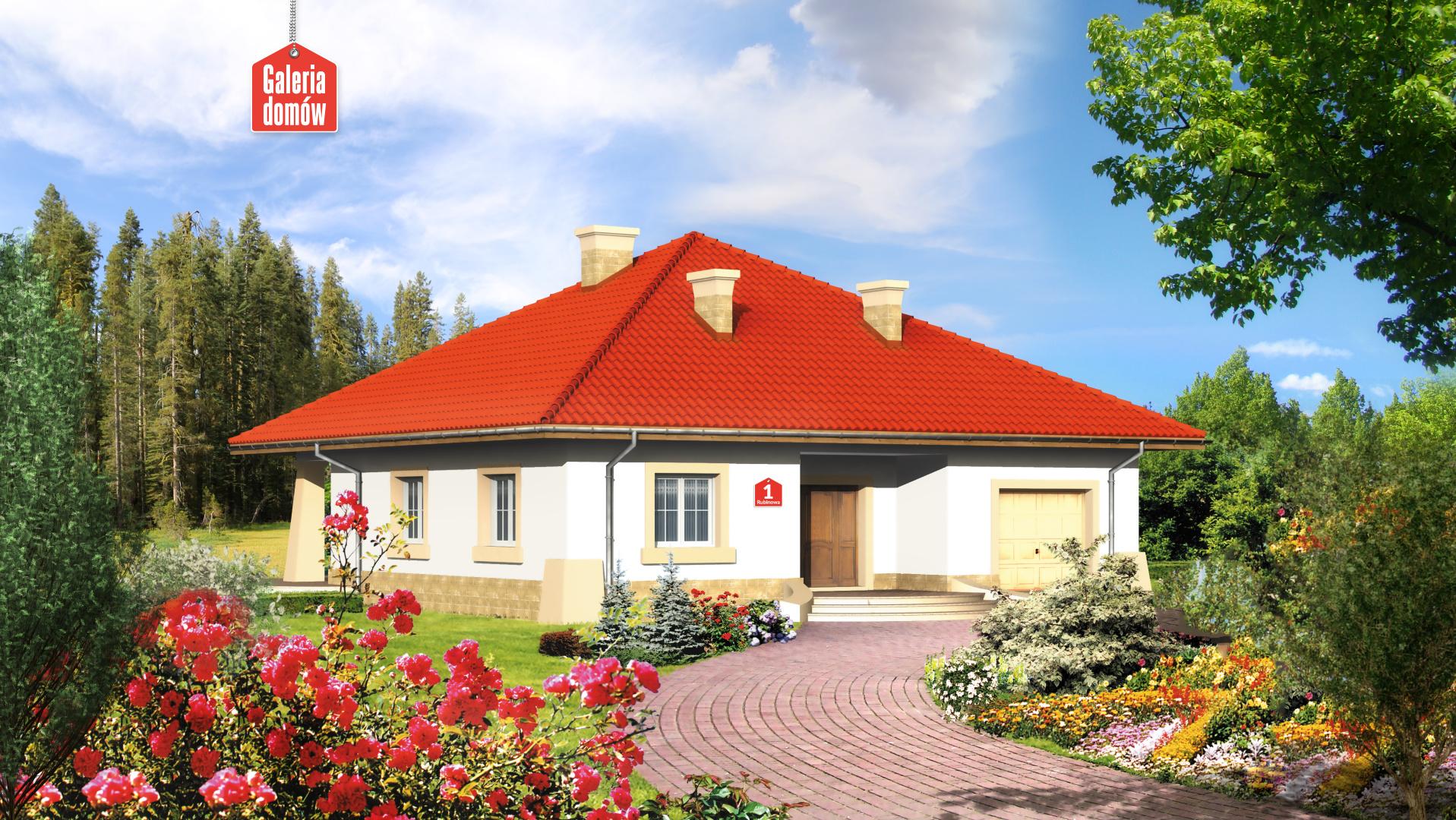 Dom przy Rubinowej - zdjęcie projektu i wizualizacja