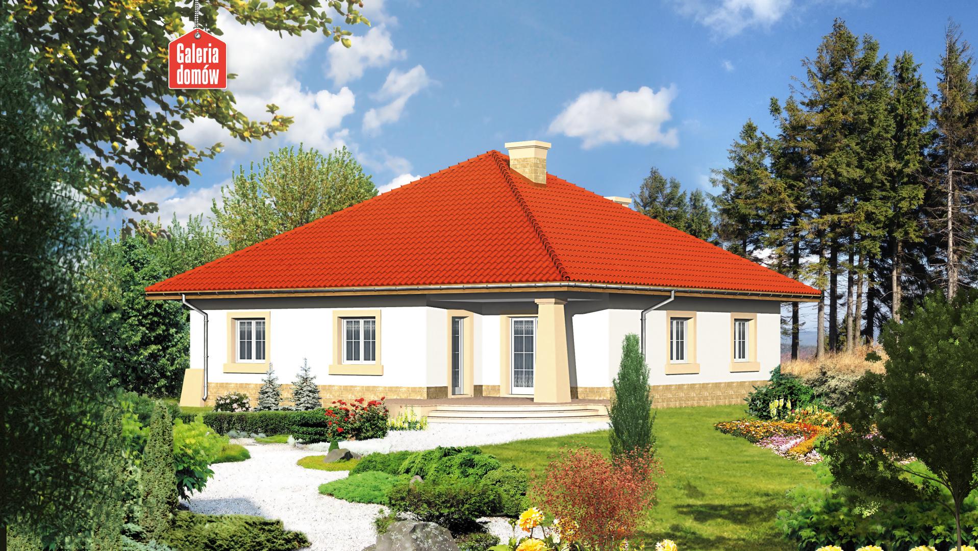Dom przy Rubinowej - widok od ogrodu