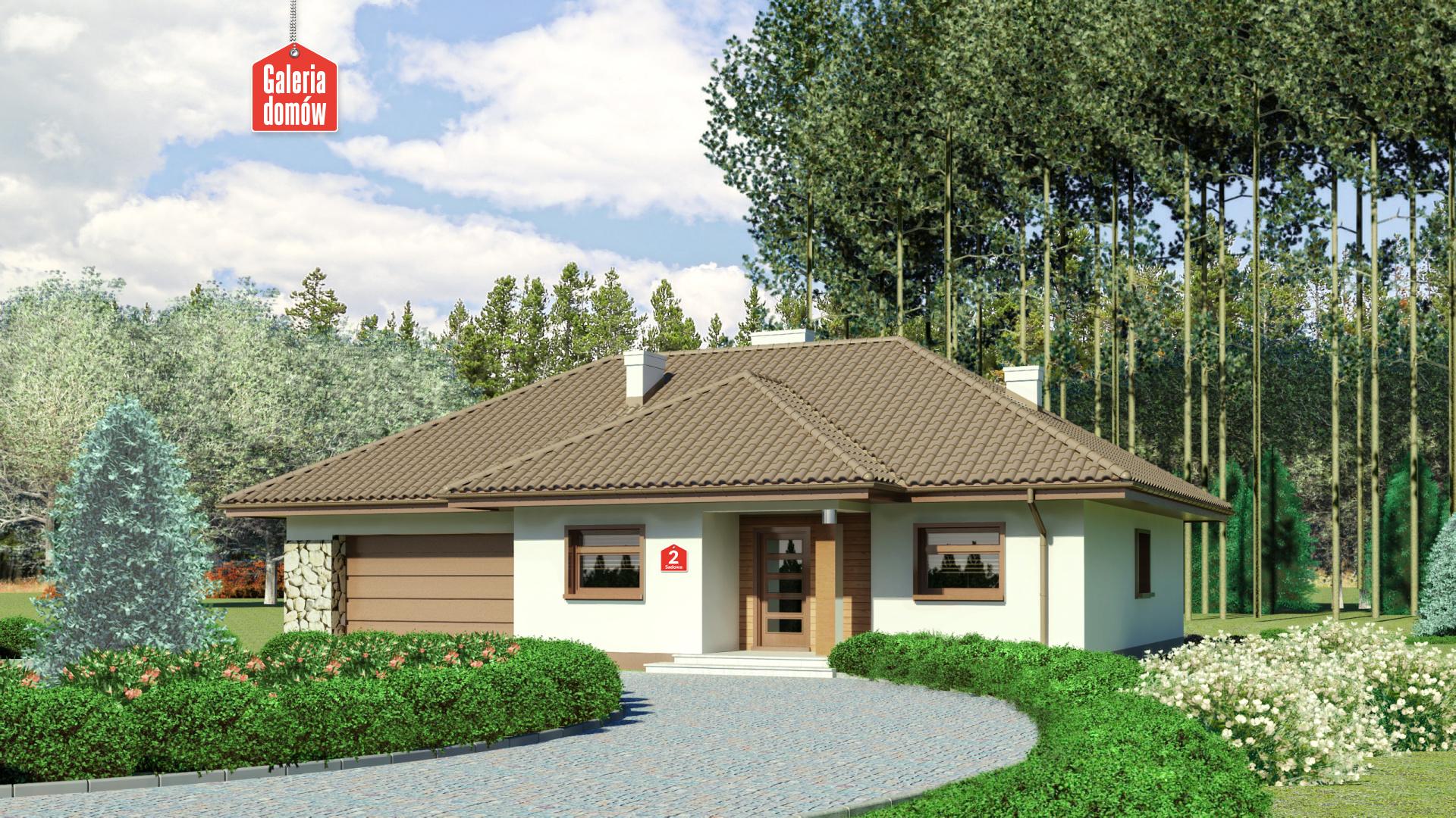 Zdjęcie projektu i wizualizacja: projekt domu Dom przy Sadowej 2