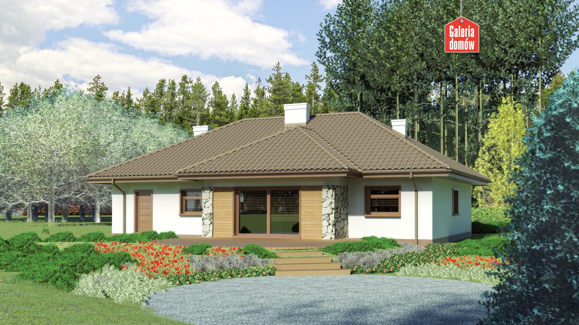 Dom przy Sadowej 2 - widok od ogrodu