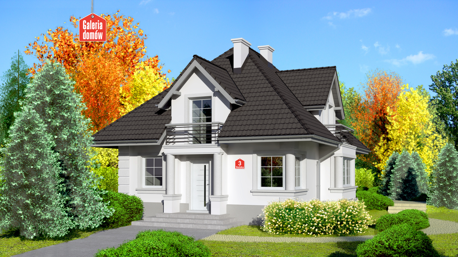 Dom przy Sielskiej 3 - zdjęcie projektu i wizualizacja