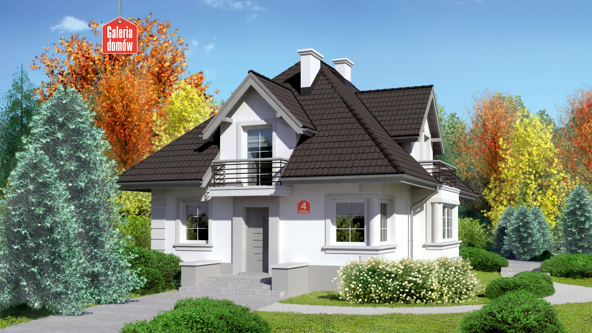 Dom przy Sielskiej 4 - zdjęcie projektu i wizualizacja