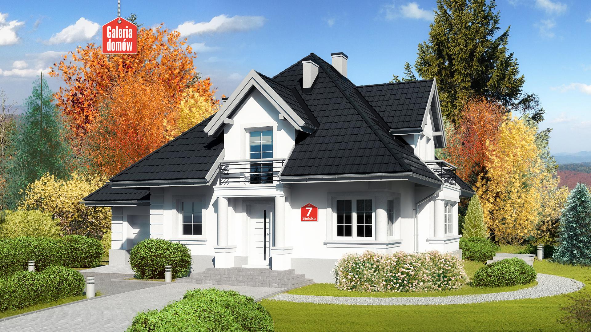 Dom przy Sielskiej 7 - zdjęcie projektu i wizualizacja