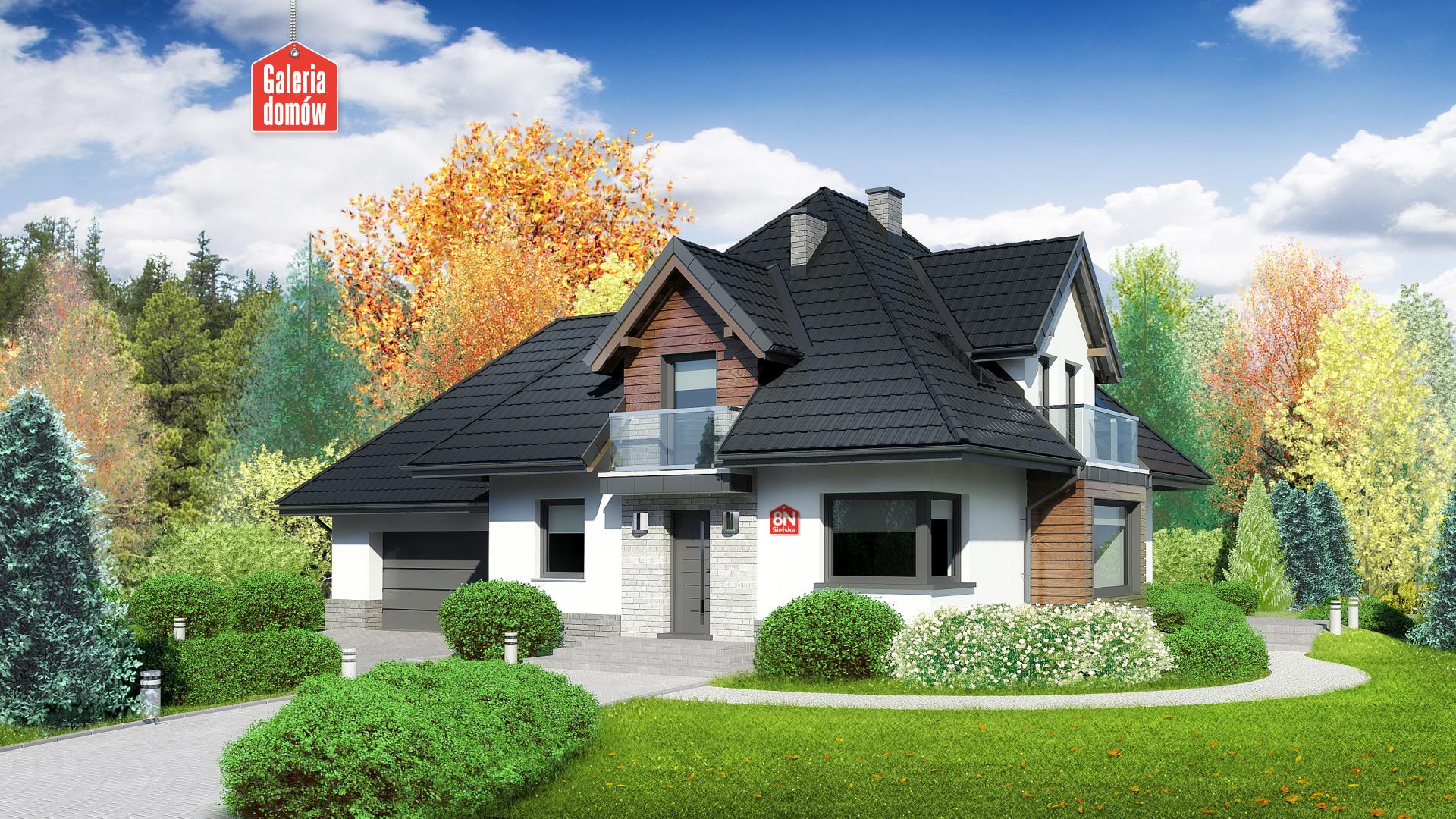 Zdjęcie projektu i wizualizacja: projekt domu Dom przy Sielskiej 8 N