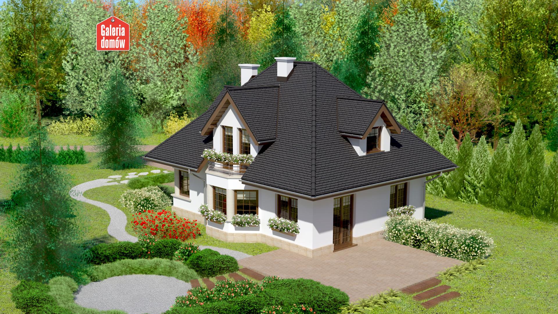 Dom przy Sielskiej - widok od ogrodu