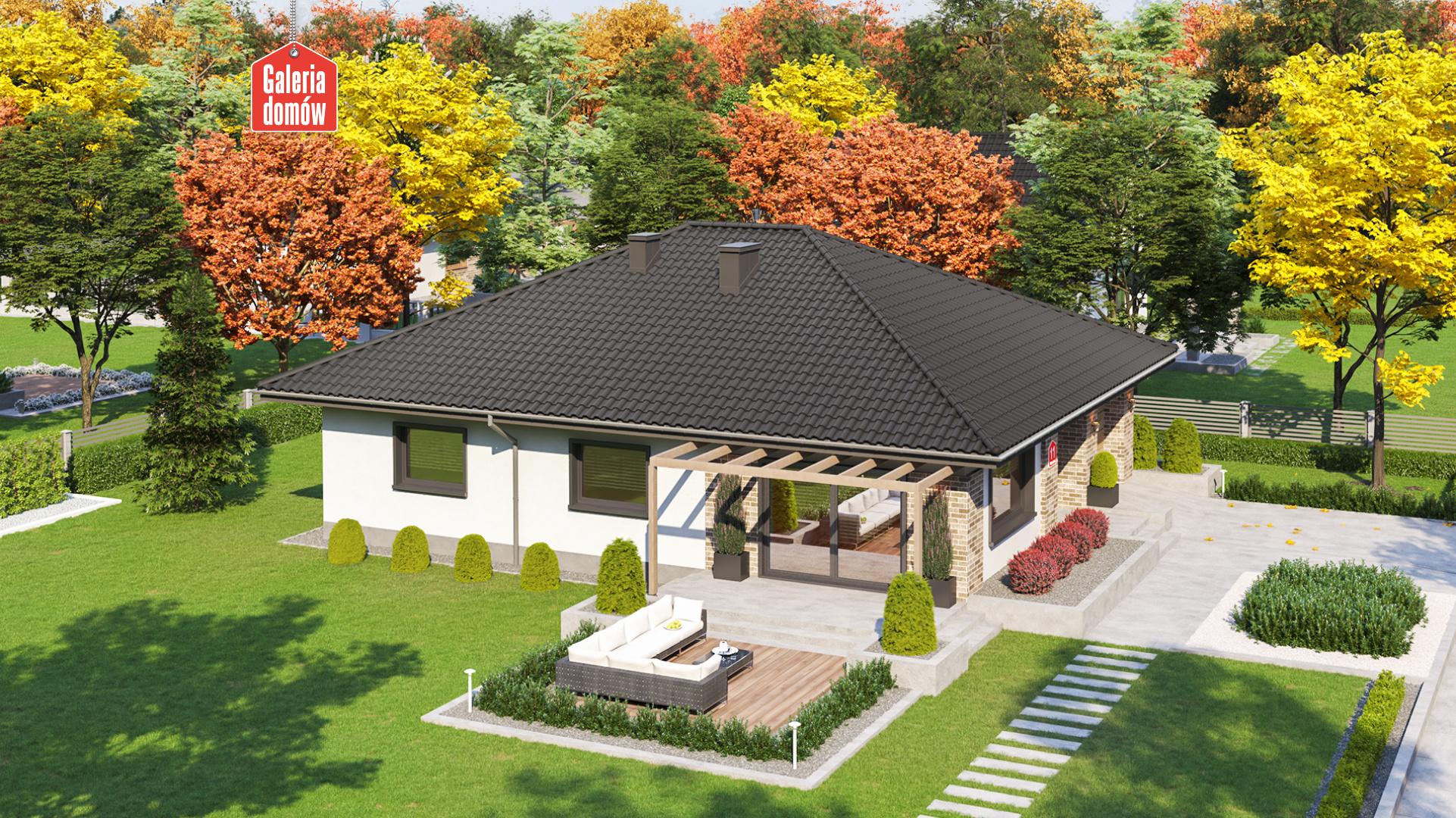 Dom przy Słonecznej 11 - widok od ogrodu