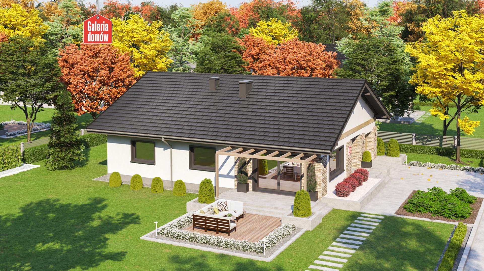 Dom przy Słonecznej 12 - widok od ogrodu
