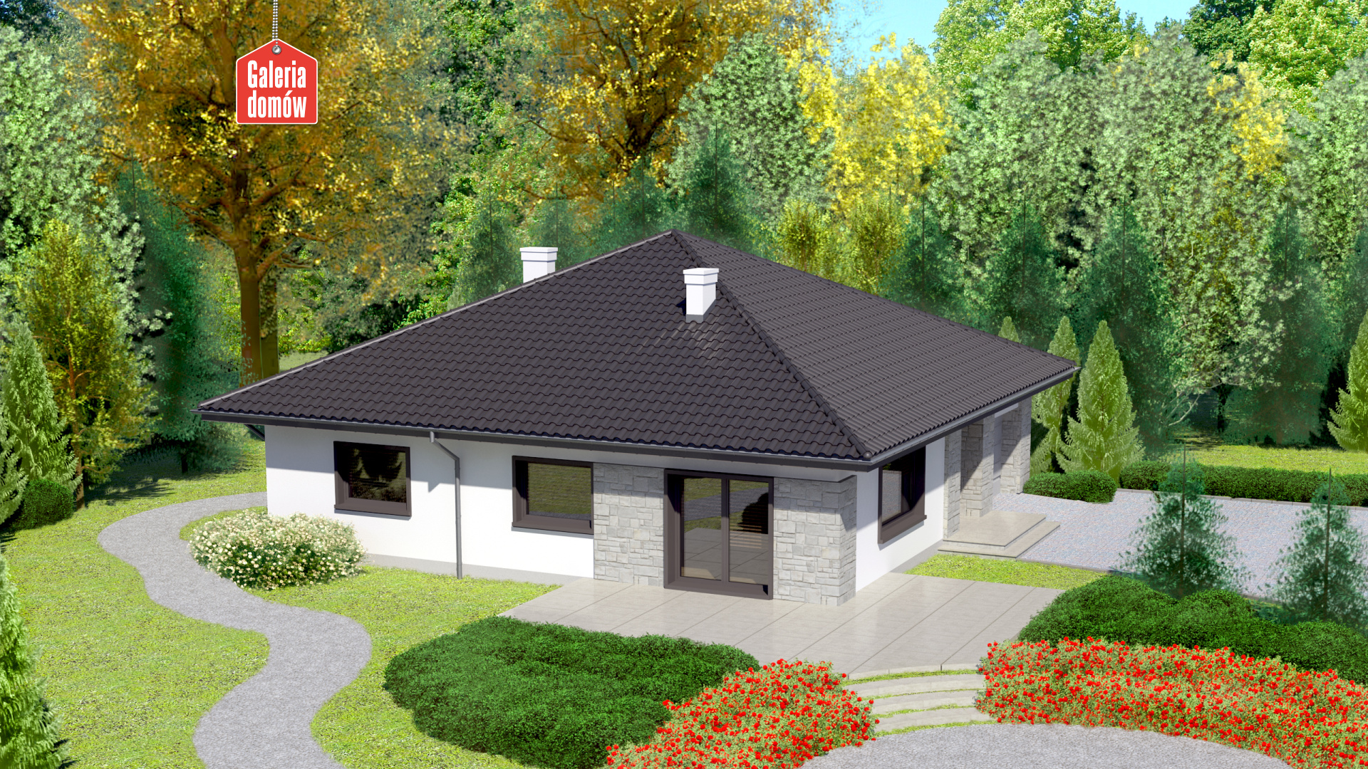 Dom przy Słonecznej 2 - widok od ogrodu