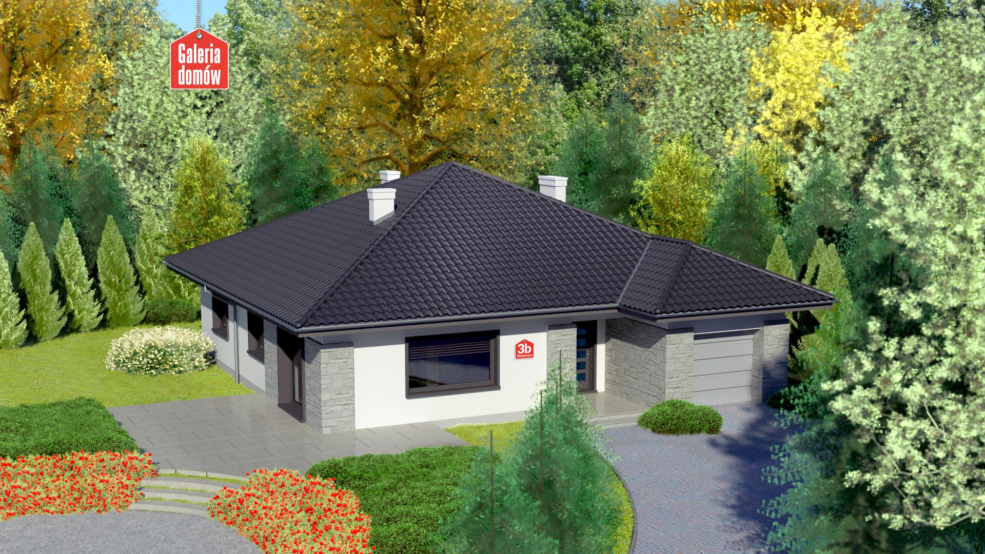 Dom przy Słonecznej 3 bis - zdjęcie projektu i wizualizacja