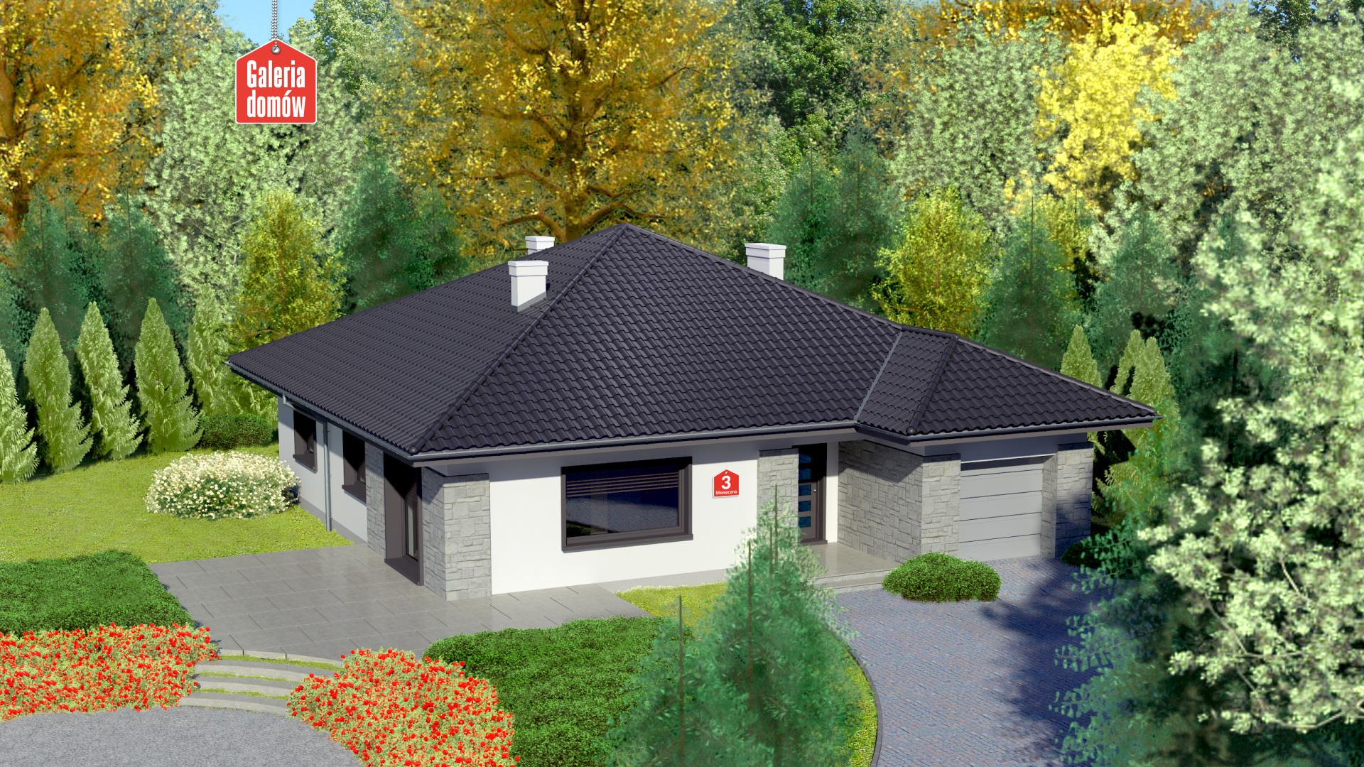 Dom przy Słonecznej 3 - zdjęcie projektu i wizualizacja