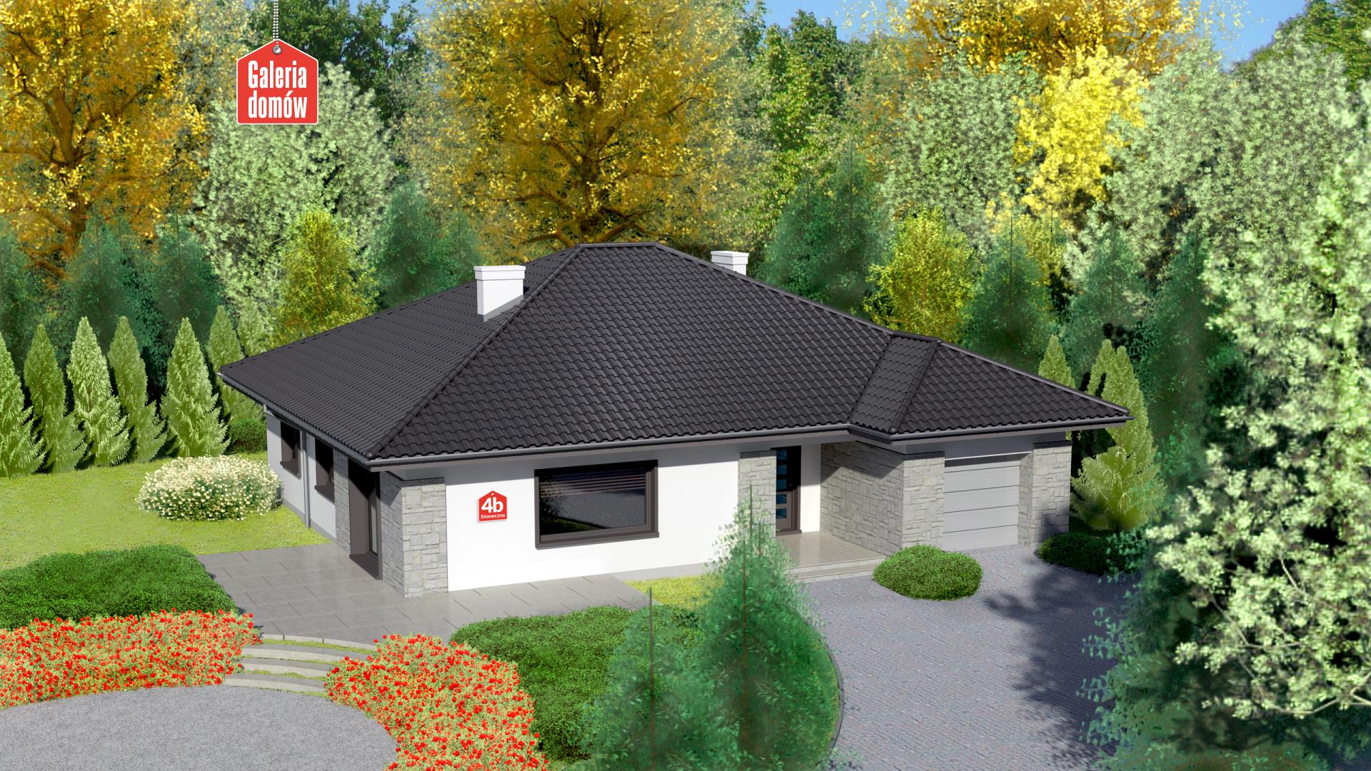 Zdjęcie projektu i wizualizacja: projekt domu Dom przy Słonecznej 4 bis