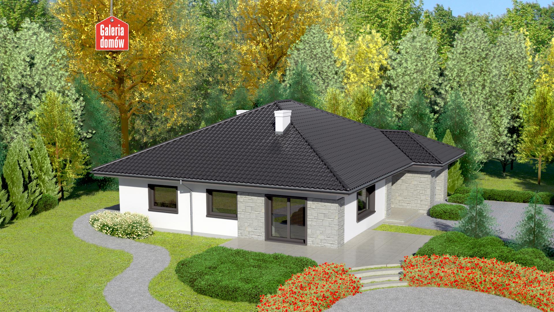 Dom przy Słonecznej 4 bis - widok od ogrodu