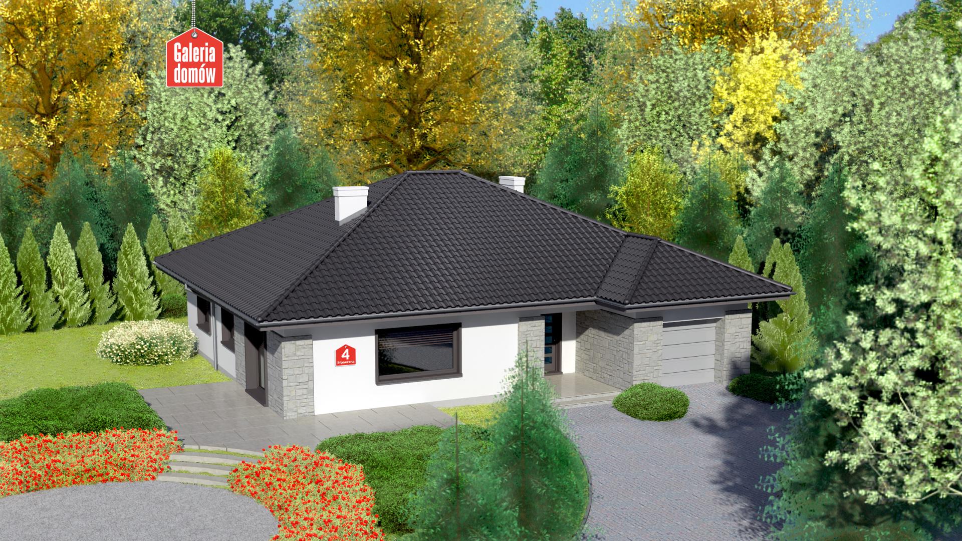 Dom przy Słonecznej 4 - zdjęcie projektu i wizualizacja