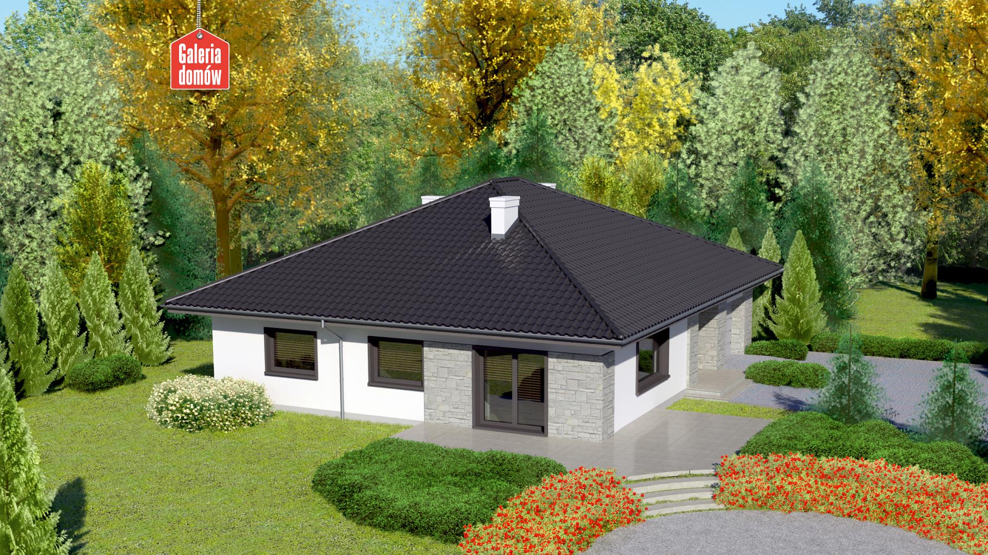 Dom przy Słonecznej 5 bis - widok od ogrodu