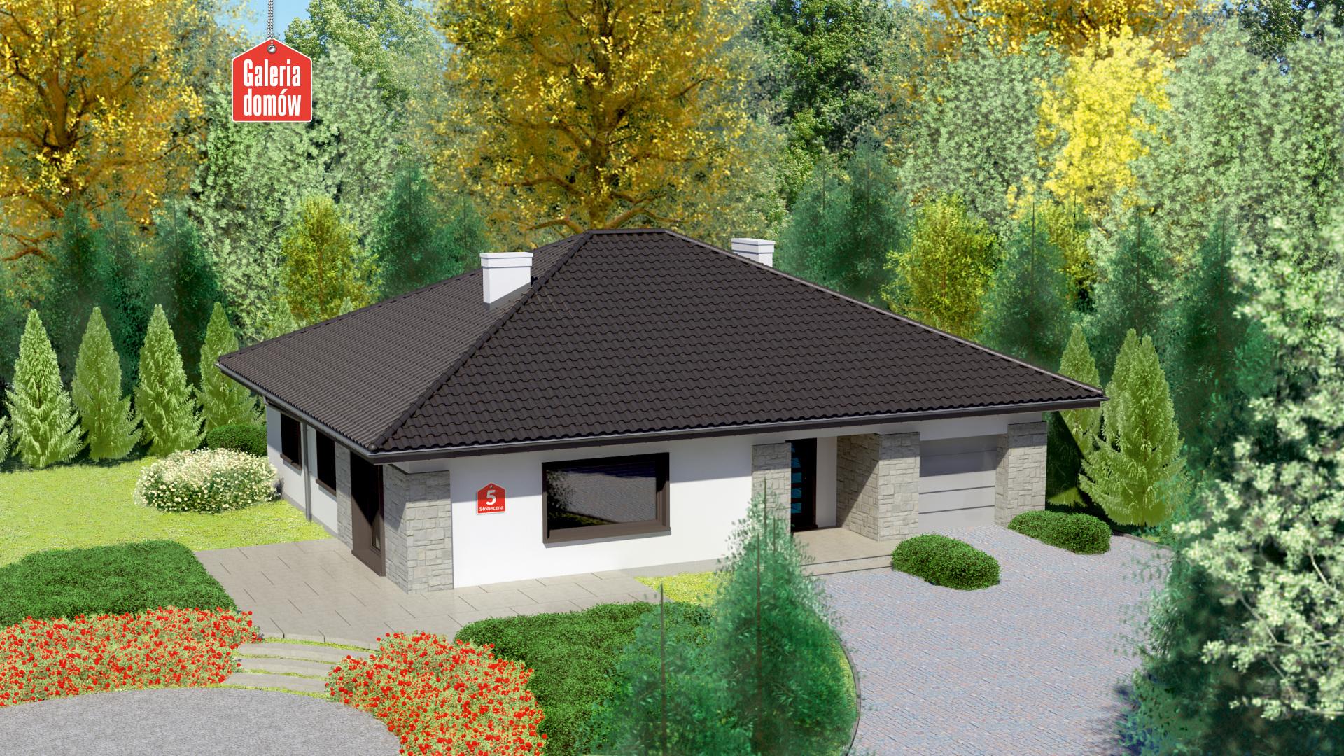 Dom przy Słonecznej 5 - zdjęcie projektu i wizualizacja