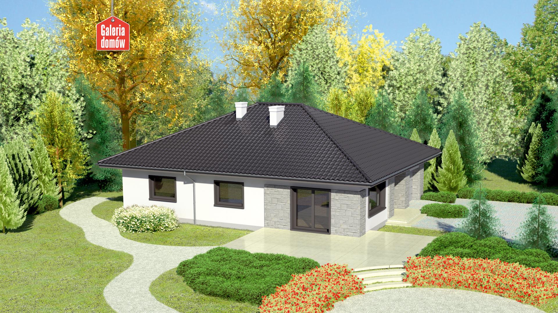 Dom przy Słonecznej 6 bis - widok od ogrodu