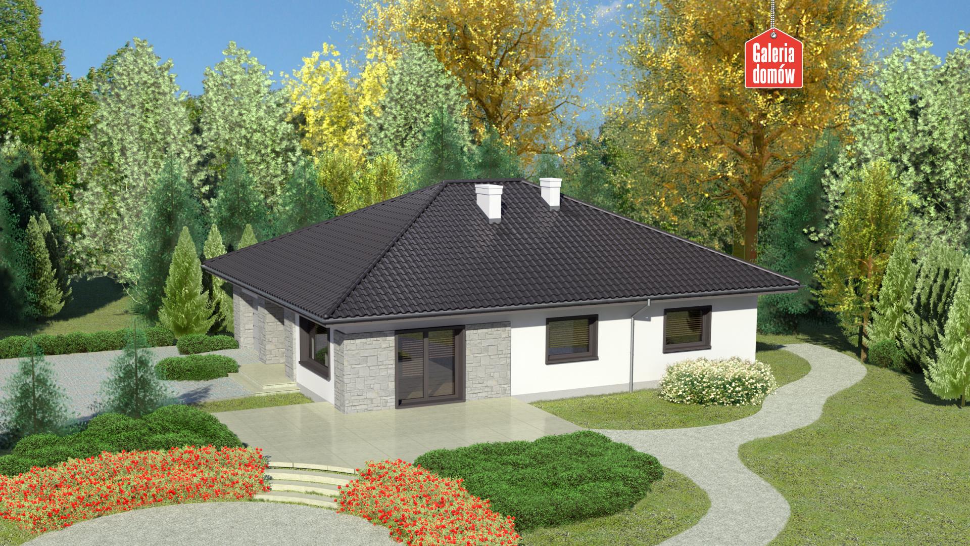Dom przy Słonecznej 6 - widok od ogrodu