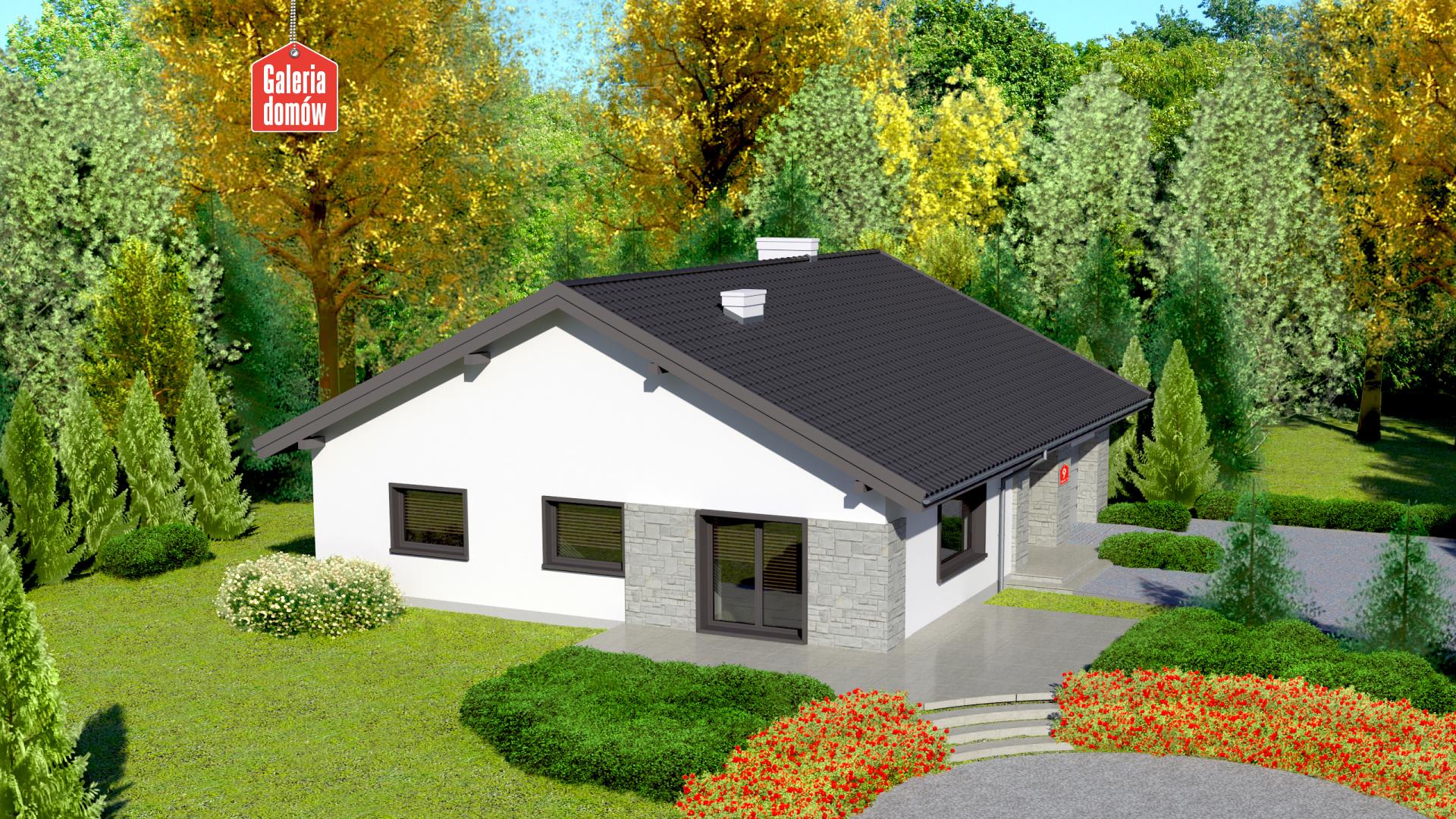 Dom przy Słonecznej 9 - widok od ogrodu