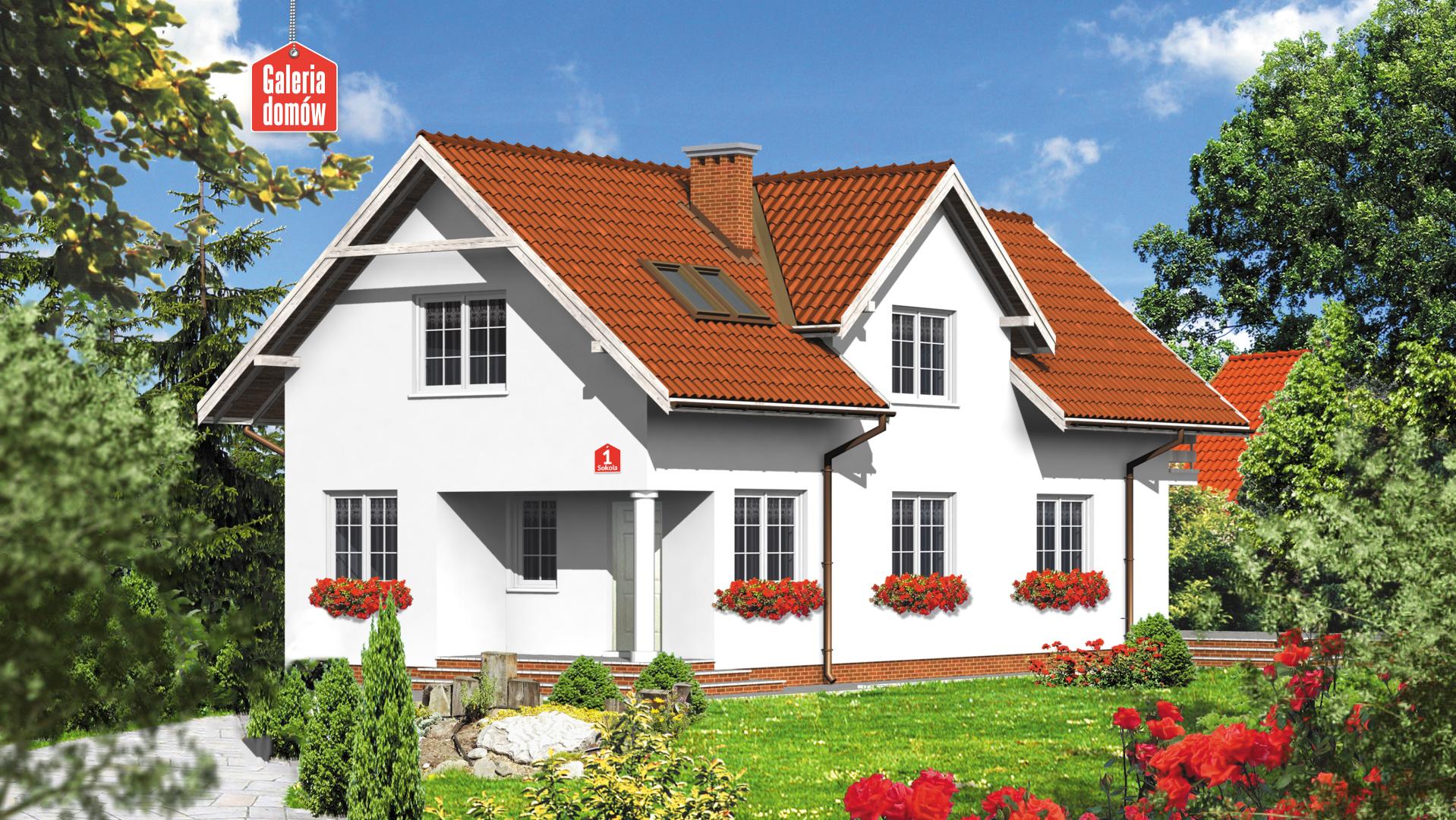 Dom przy Sokolej - zdjęcie projektu i wizualizacja