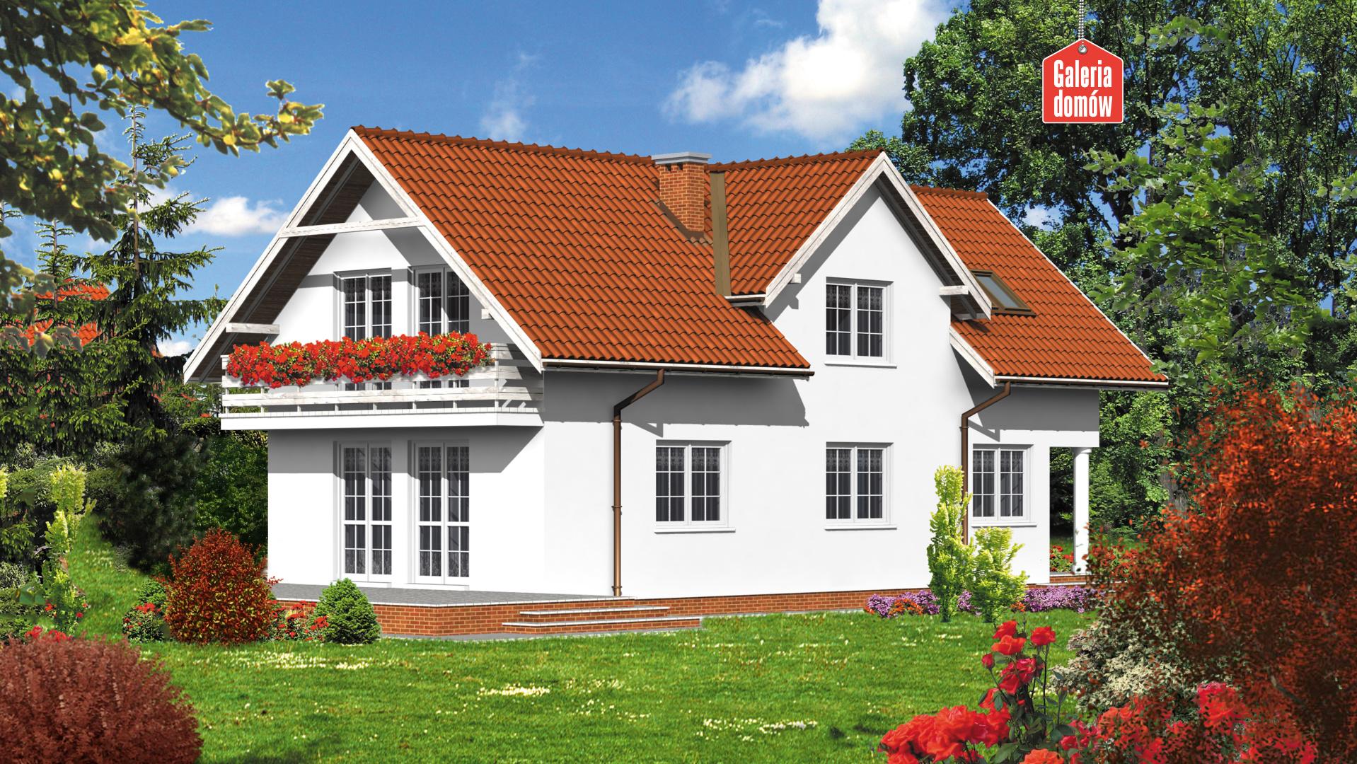 Dom przy Sokolej - widok od ogrodu