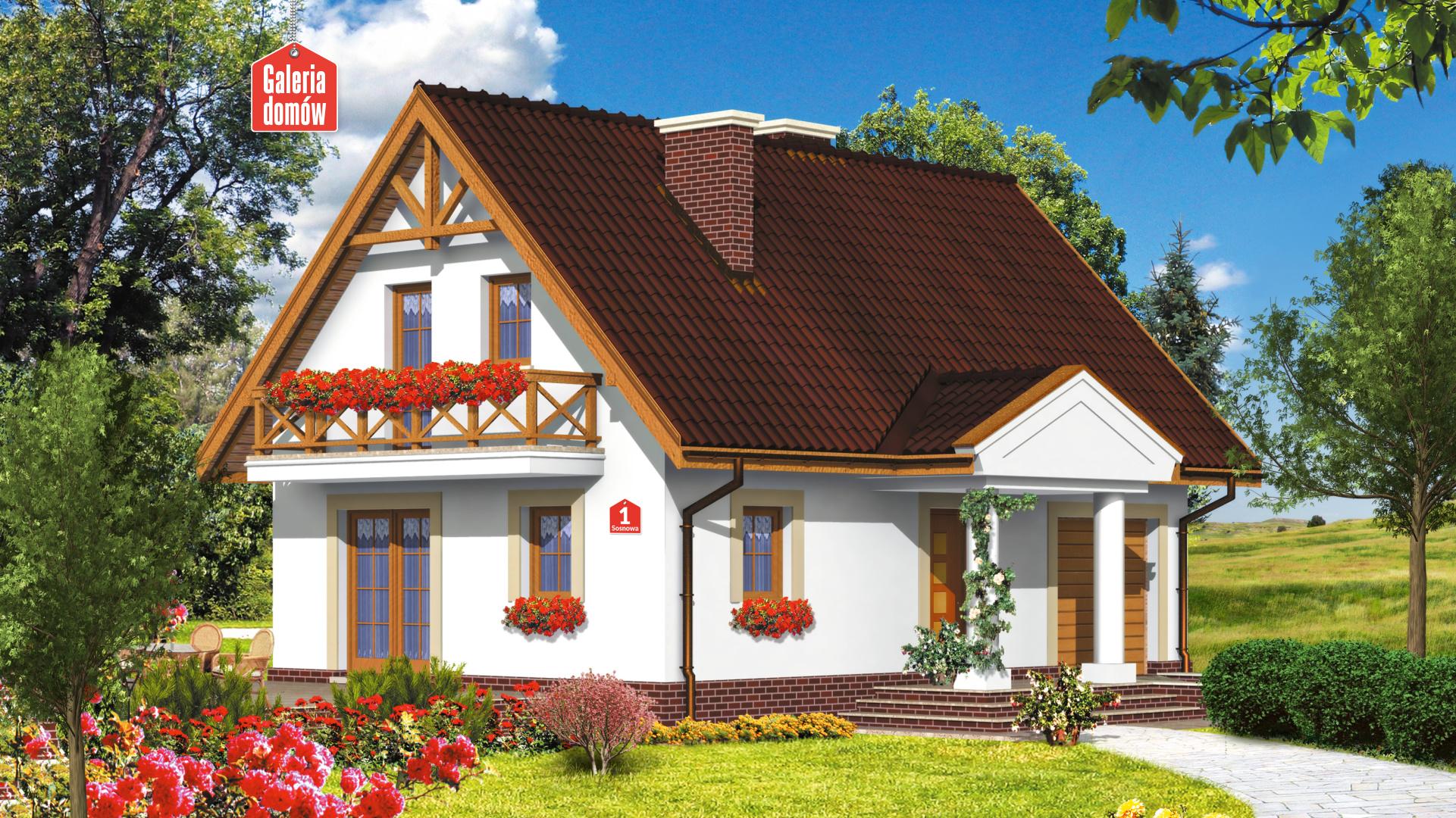 Dom przy Sosnowej - zdjęcie projektu i wizualizacja