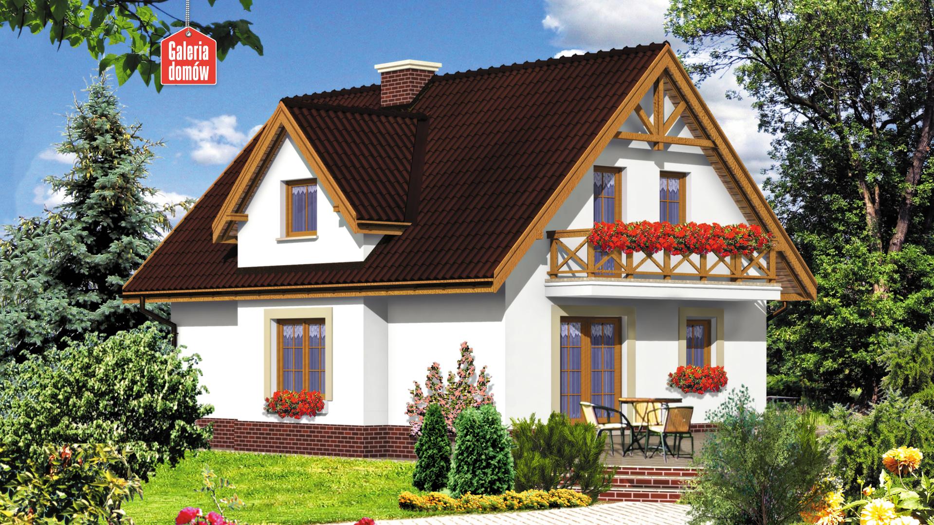 Dom przy Sosnowej - widok od strony ogrodu
