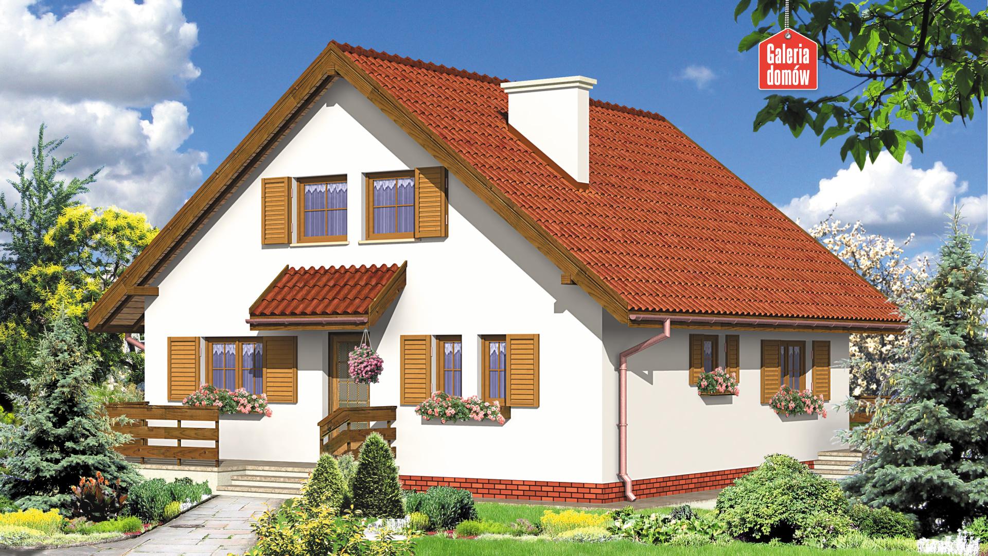 Dom przy Stokrotek - widok od ogrodu