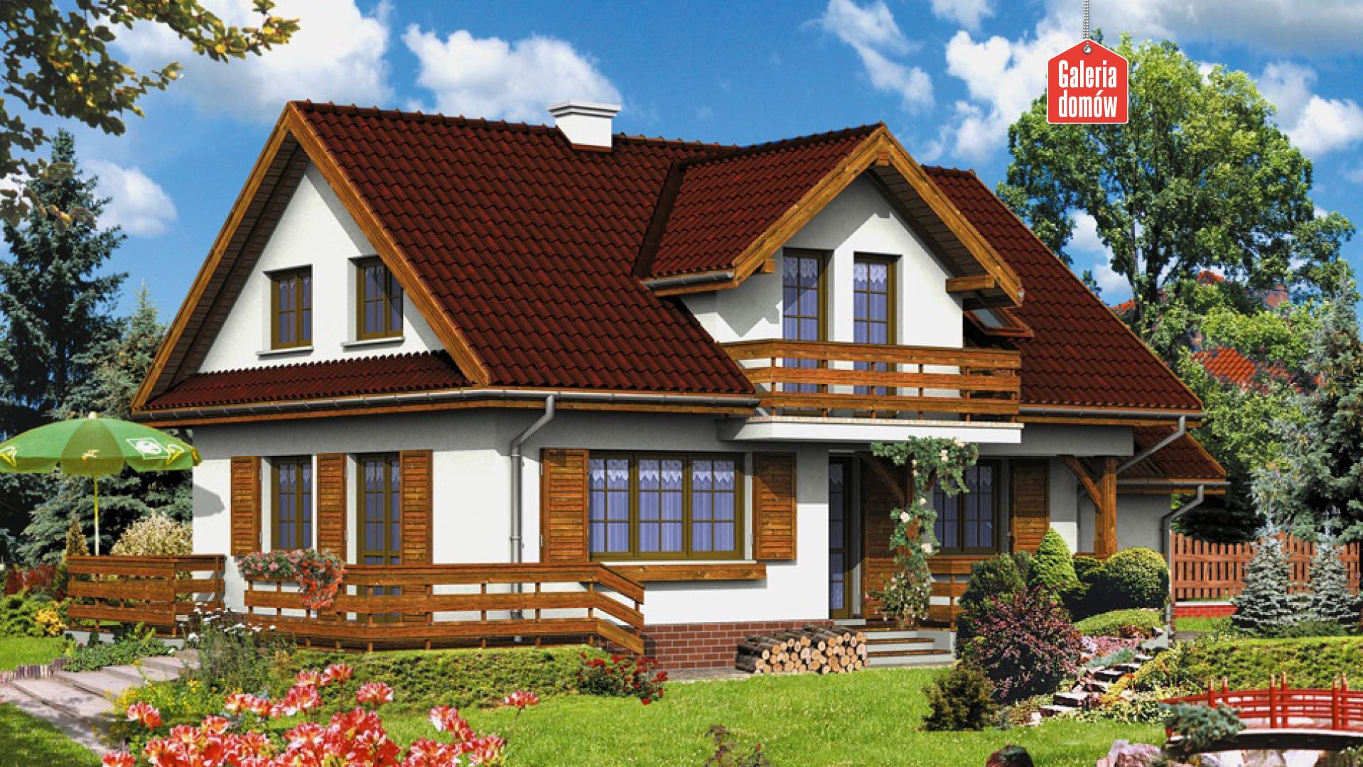 Dom przy Szarotek - widok od ogrodu