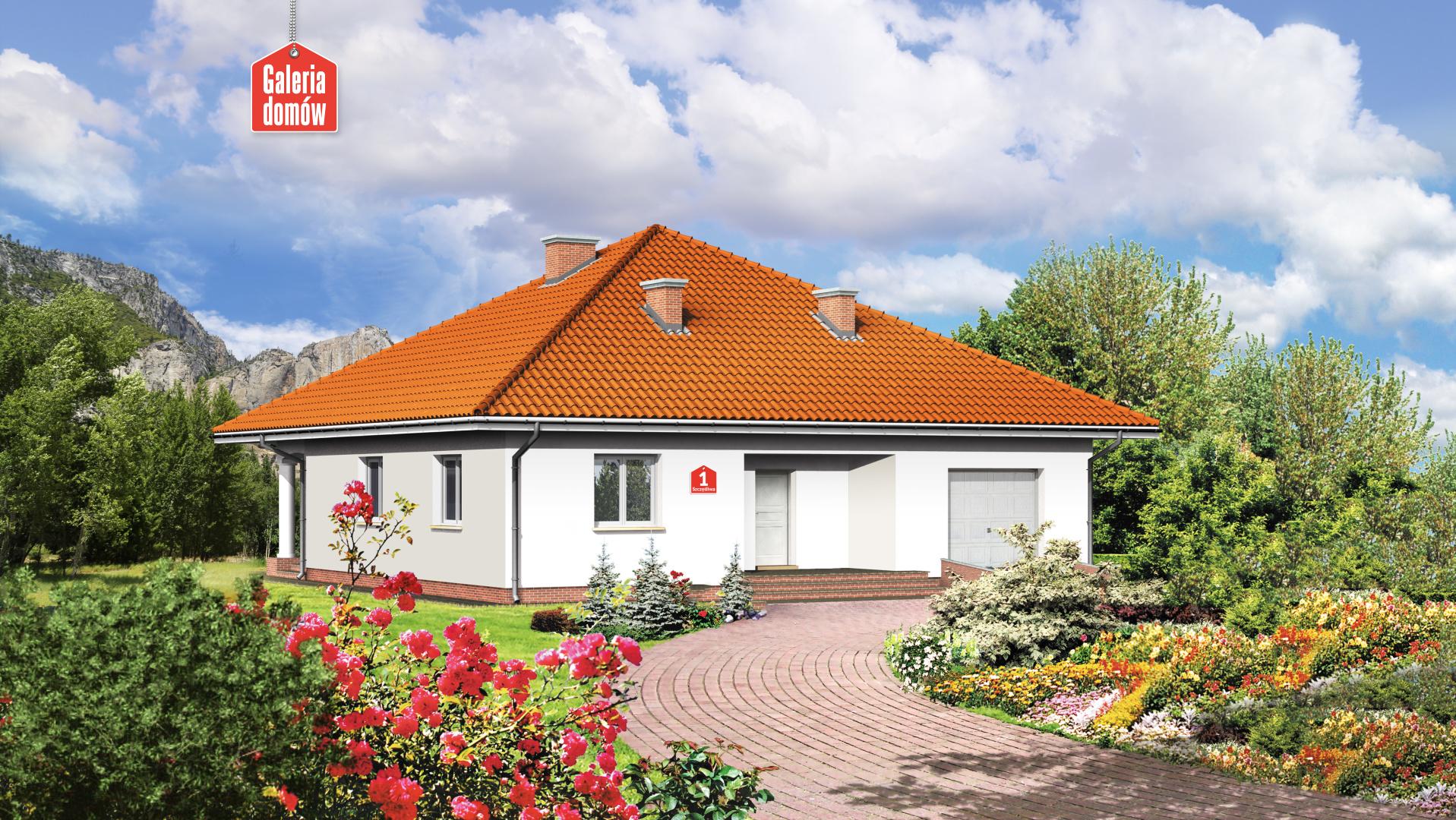 Dom przy Szczęśliwej - zdjęcie projektu i wizualizacja
