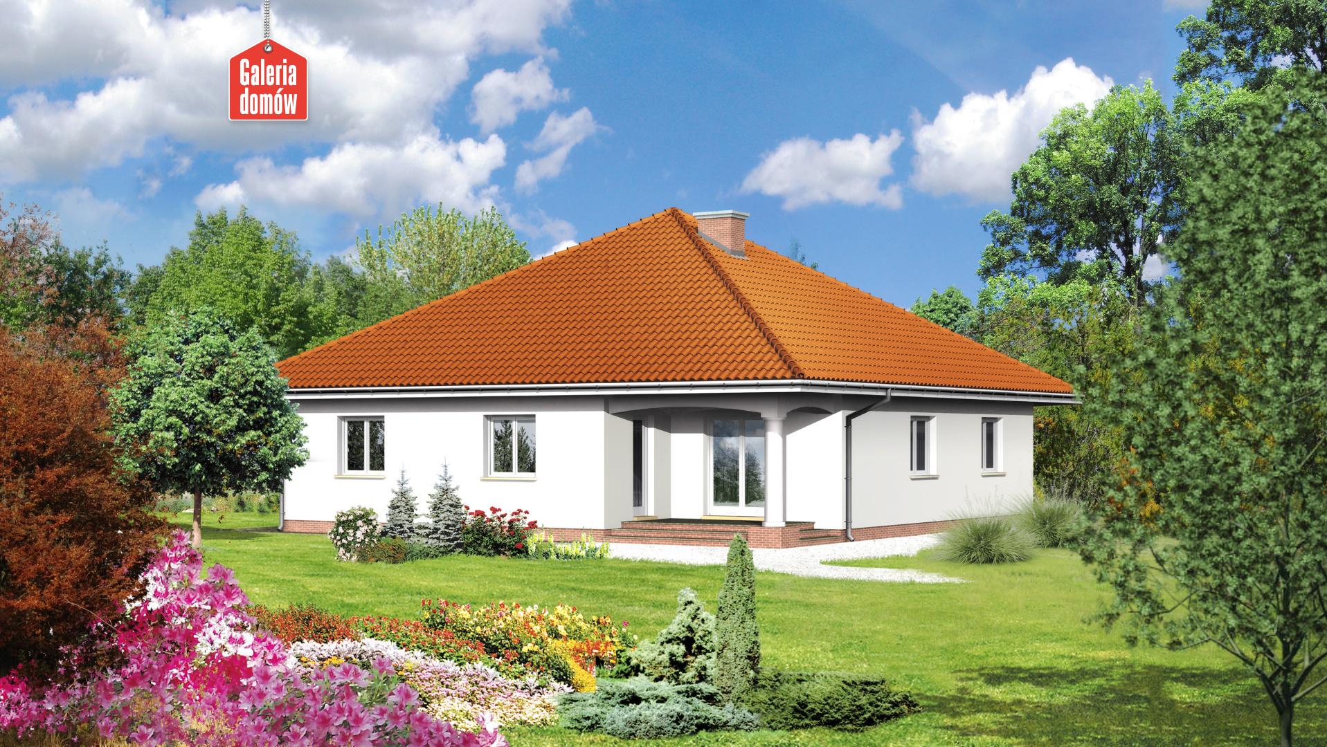 Dom przy Szczęśliwej - widok od strony ogrodu