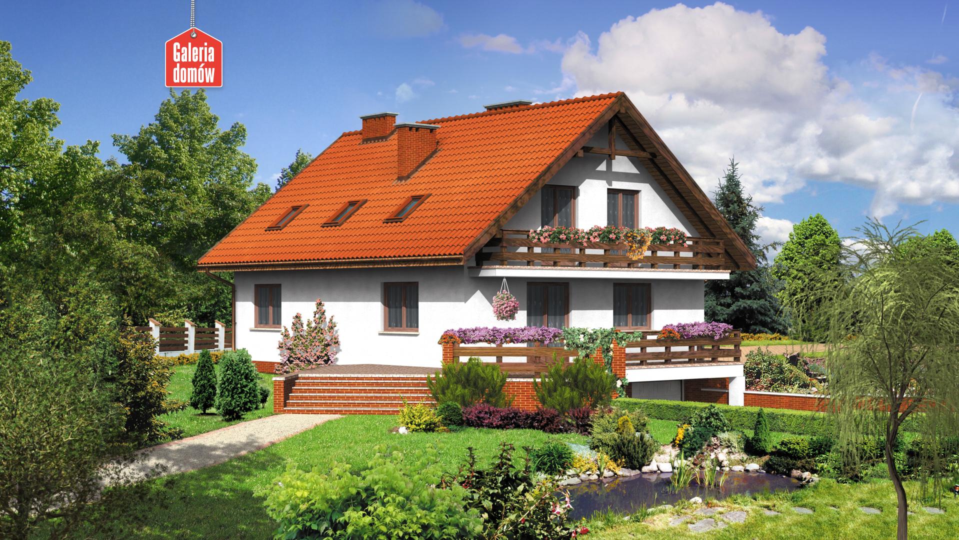 Dom przy Szkarłatnej - widok od ogrodu