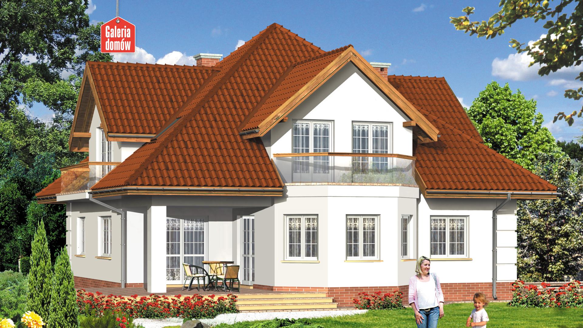 Dom przy Szmaragdowej - widok od ogrodu