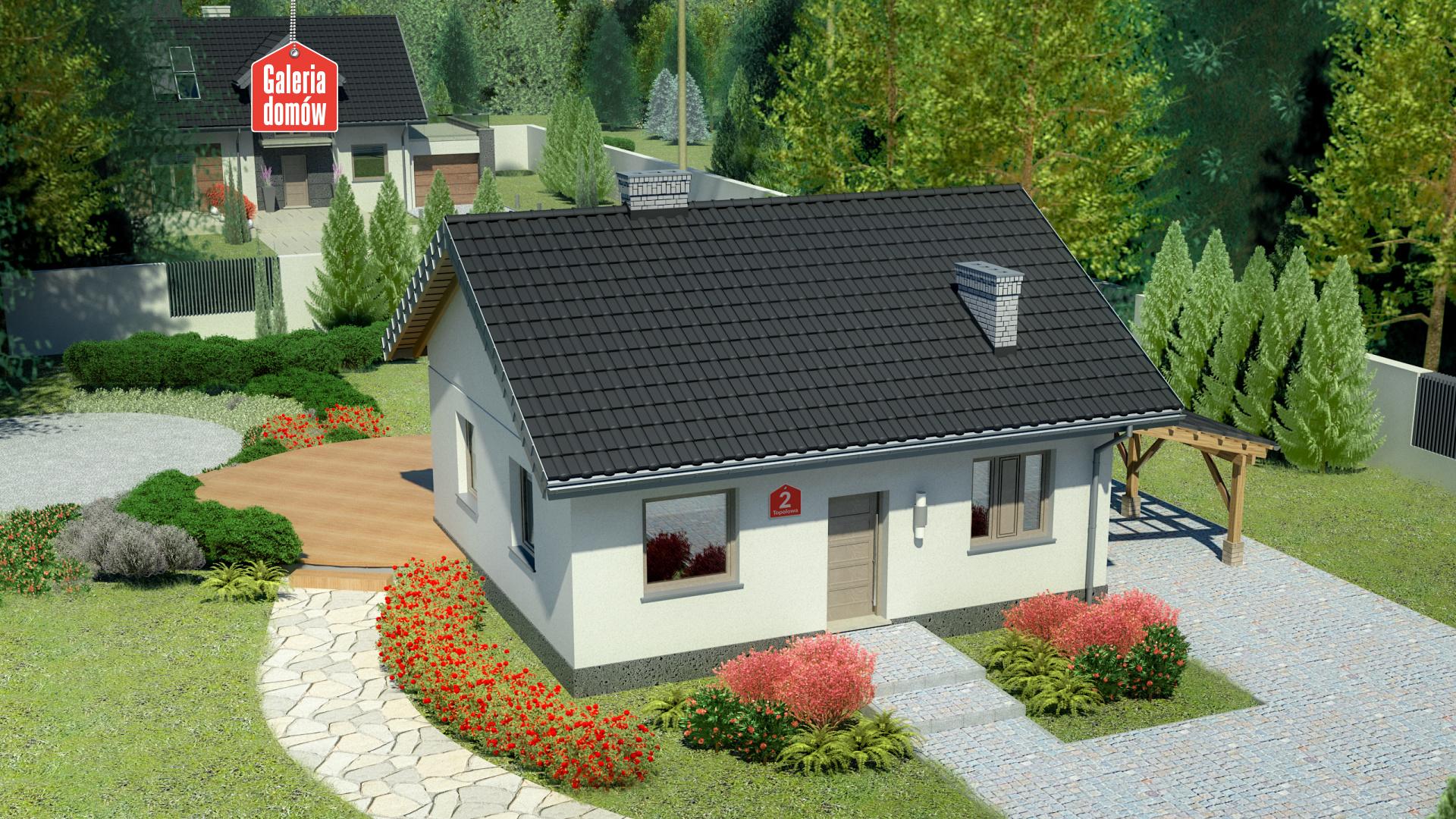 Dom przy Topolowej 2 - zdjęcie projektu i wizualizacja