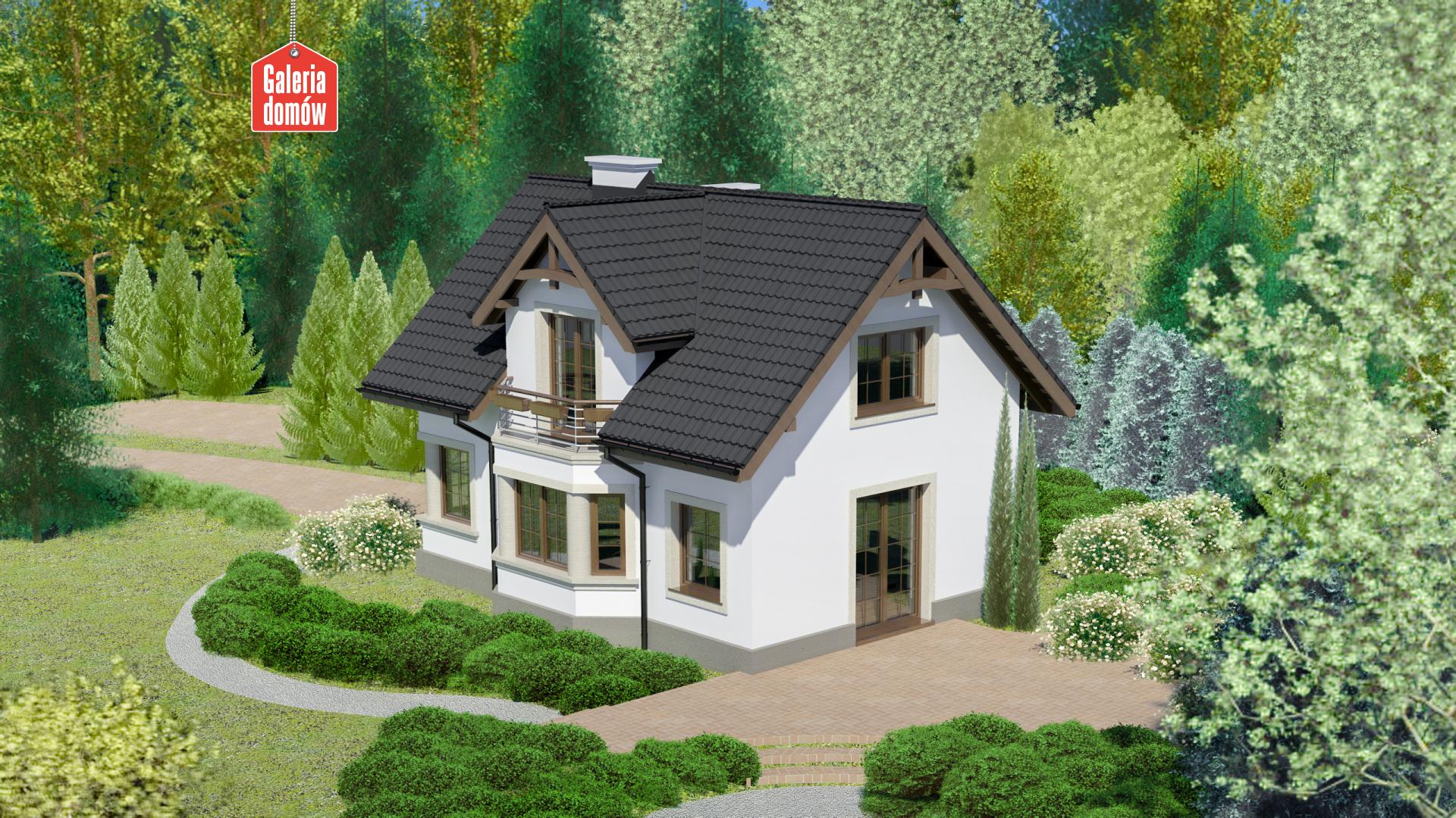 Dom przy Waniliowej - widok od ogrodu