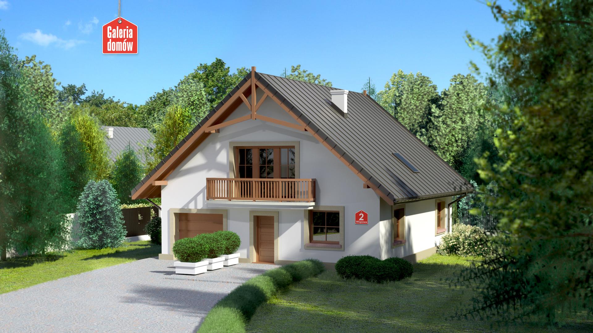 Dom przy Wiązowej 2 - zdjęcie projektu i wizualizacja