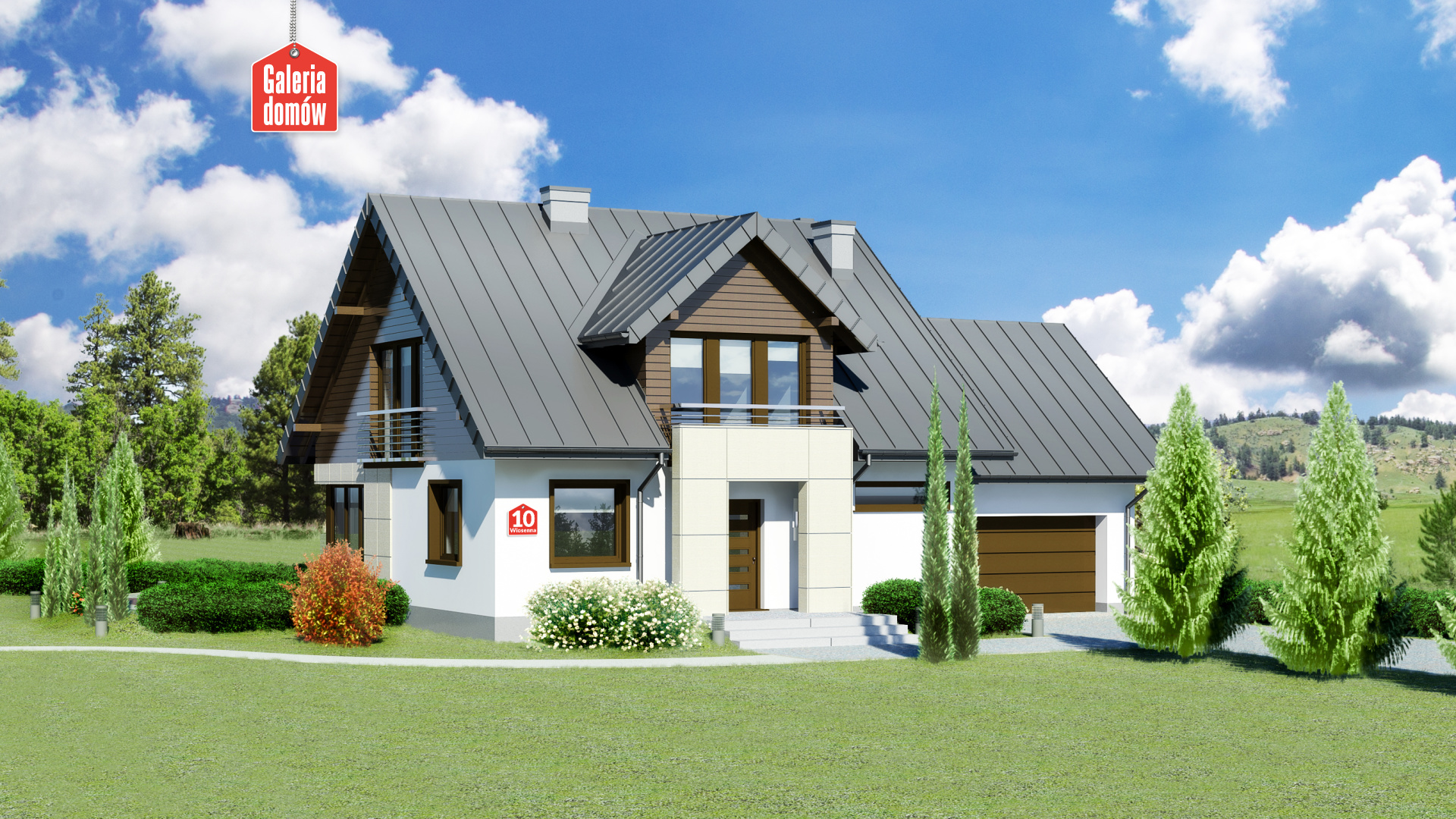 Dom przy Wiosennej 10 - zdjęcie projektu i wizualizacja