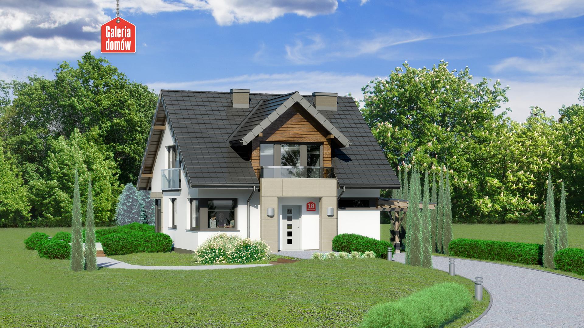 Dom przy Wiosennej 18 - zdjęcie projektu i wizualizacja
